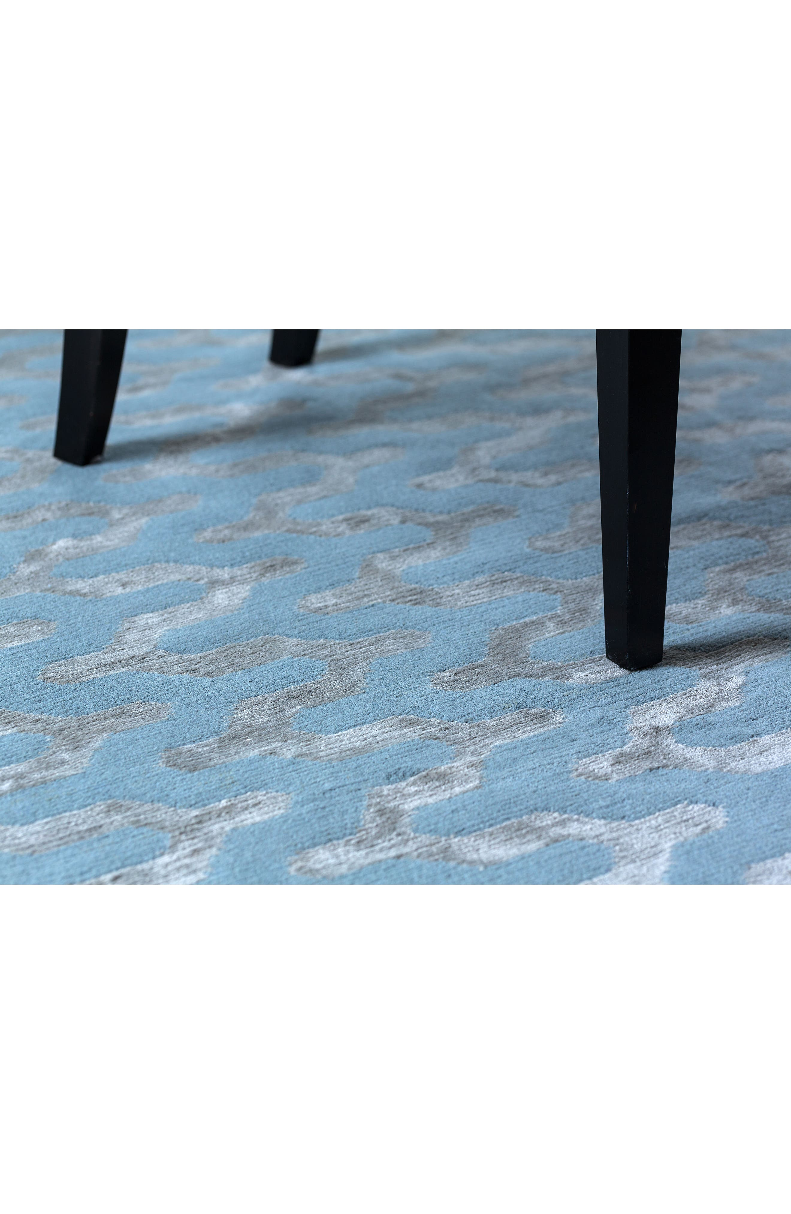 Waves Rug,                             Alternate thumbnail 4, color,                             Blue Fawn