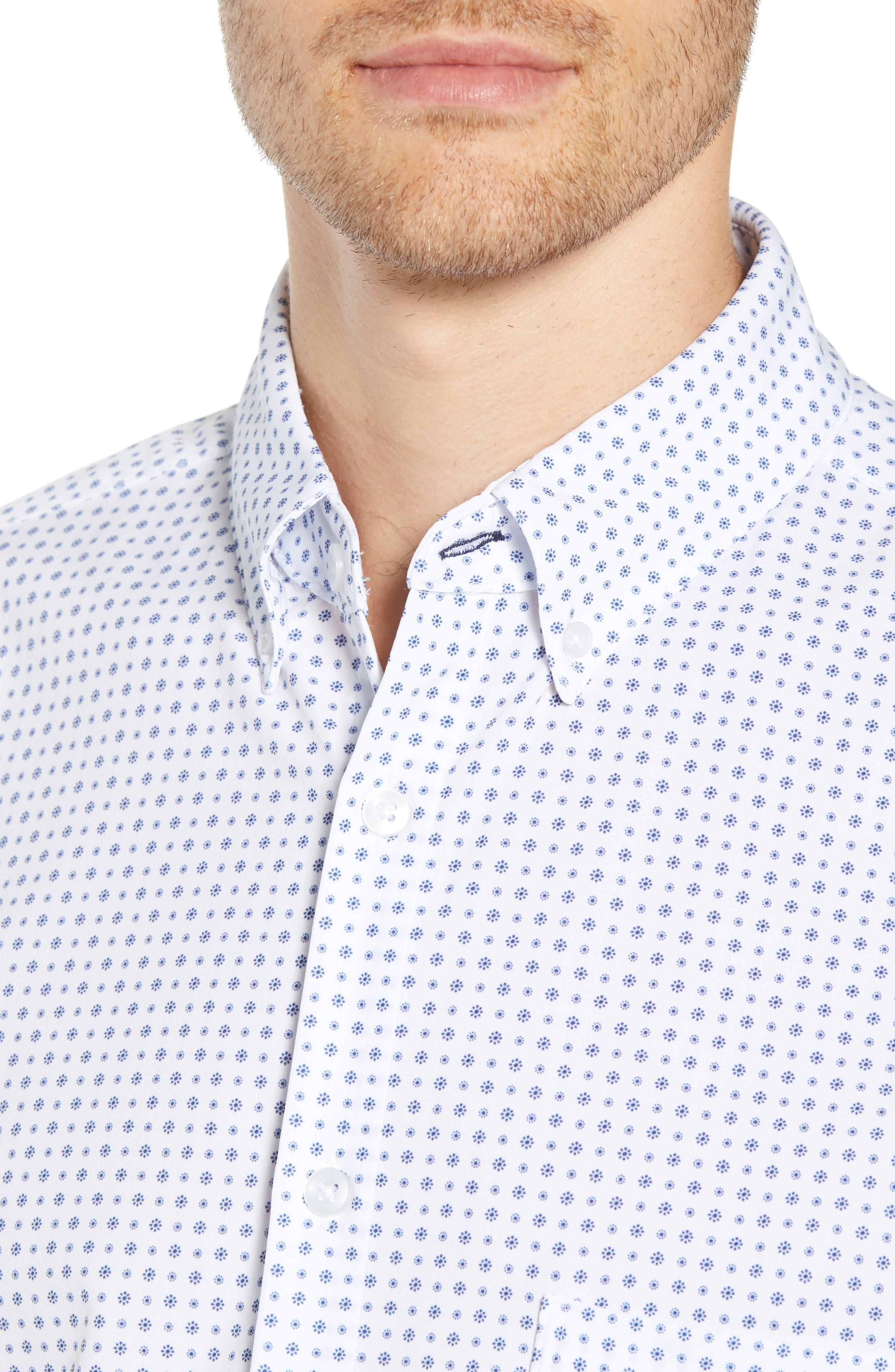 Darst Slim Fit Performance Sport Shirt,                             Alternate thumbnail 2, color,                             White