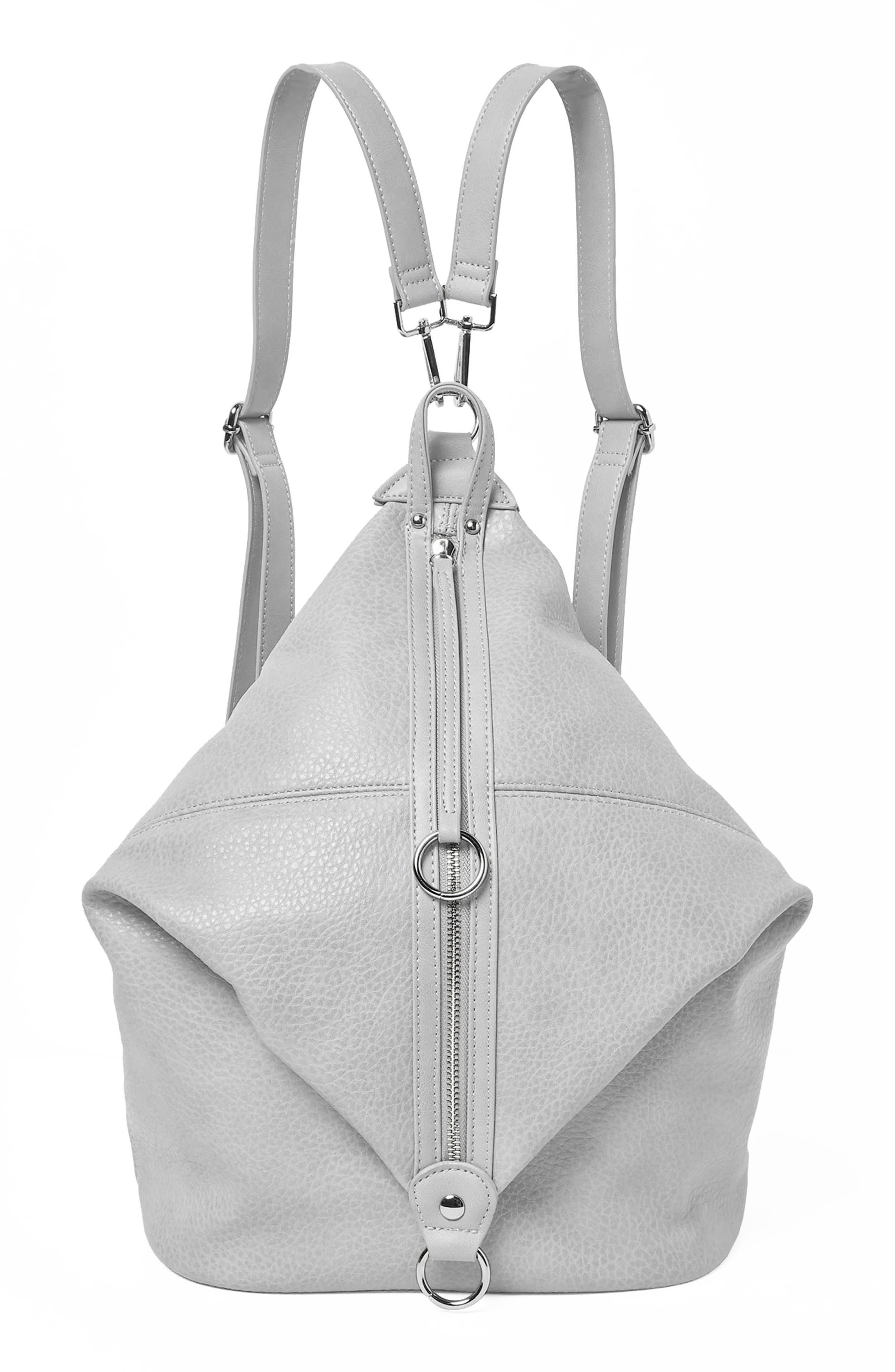 Desert Reign Vegan Leather Backpack,                         Main,                         color, Grey