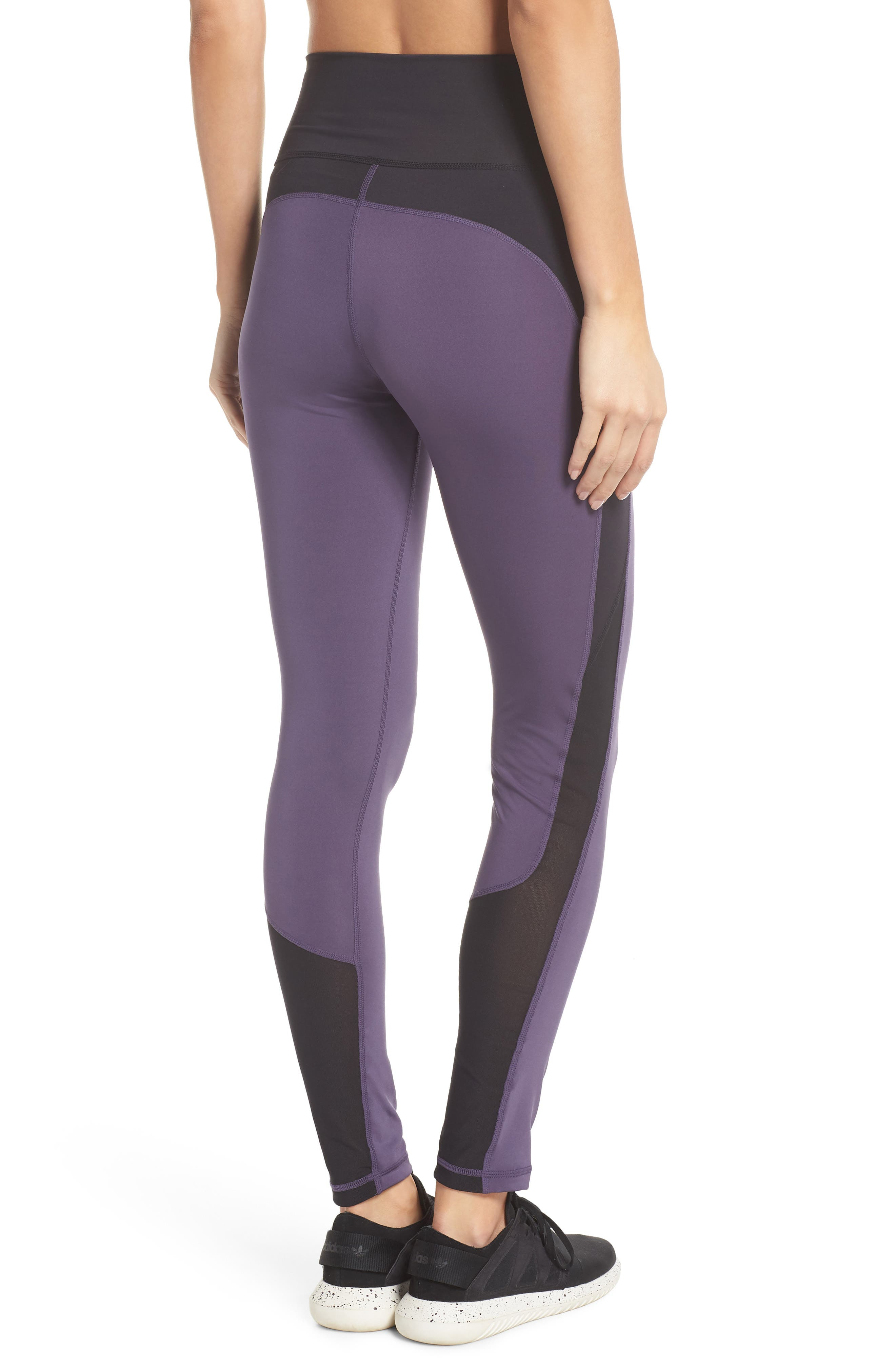 Believe This High Waist Tights,                             Alternate thumbnail 2, color,                             Trace Purple