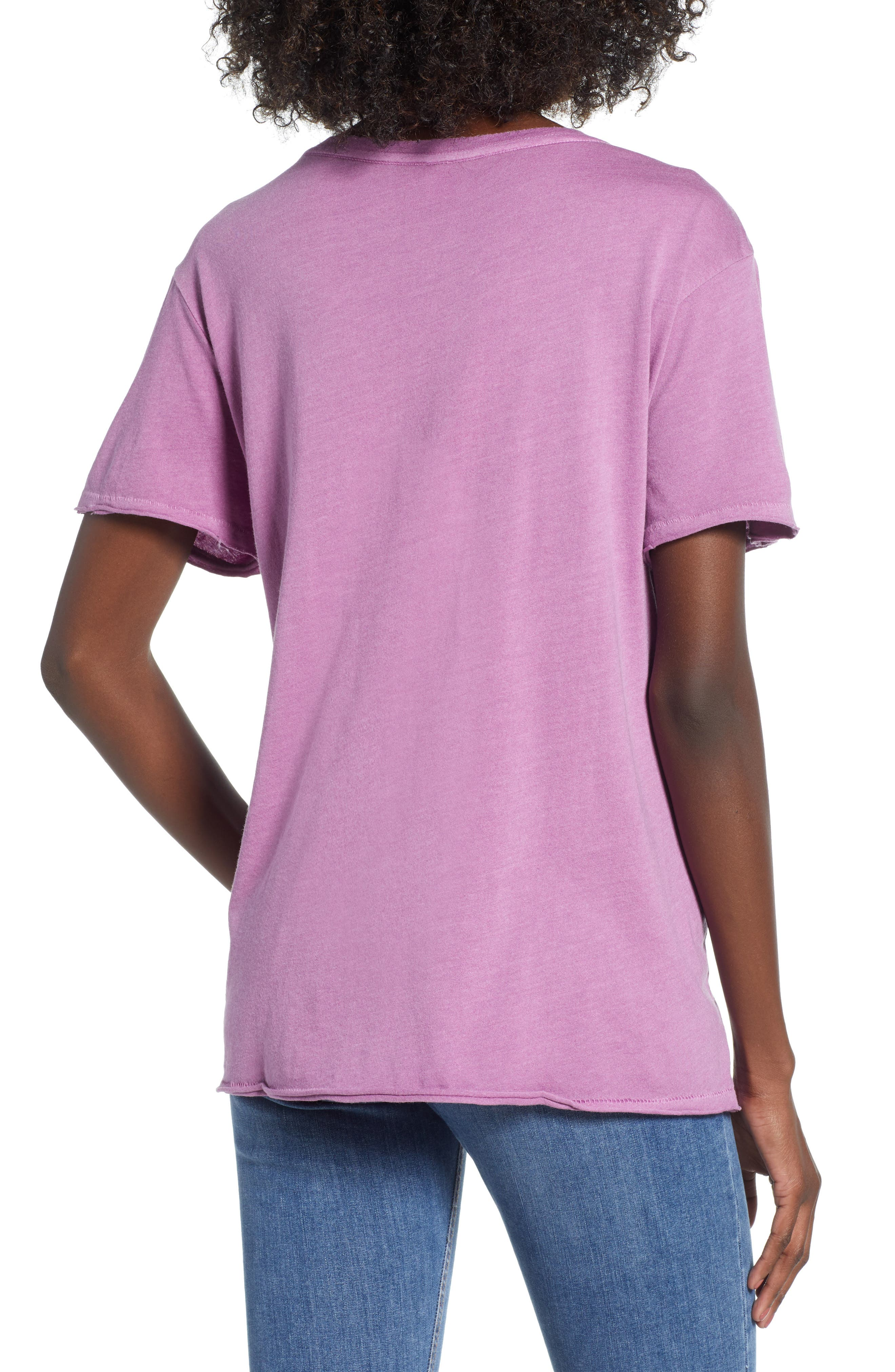 Washed Crew Tee,                             Alternate thumbnail 2, color,                             Purple Deep