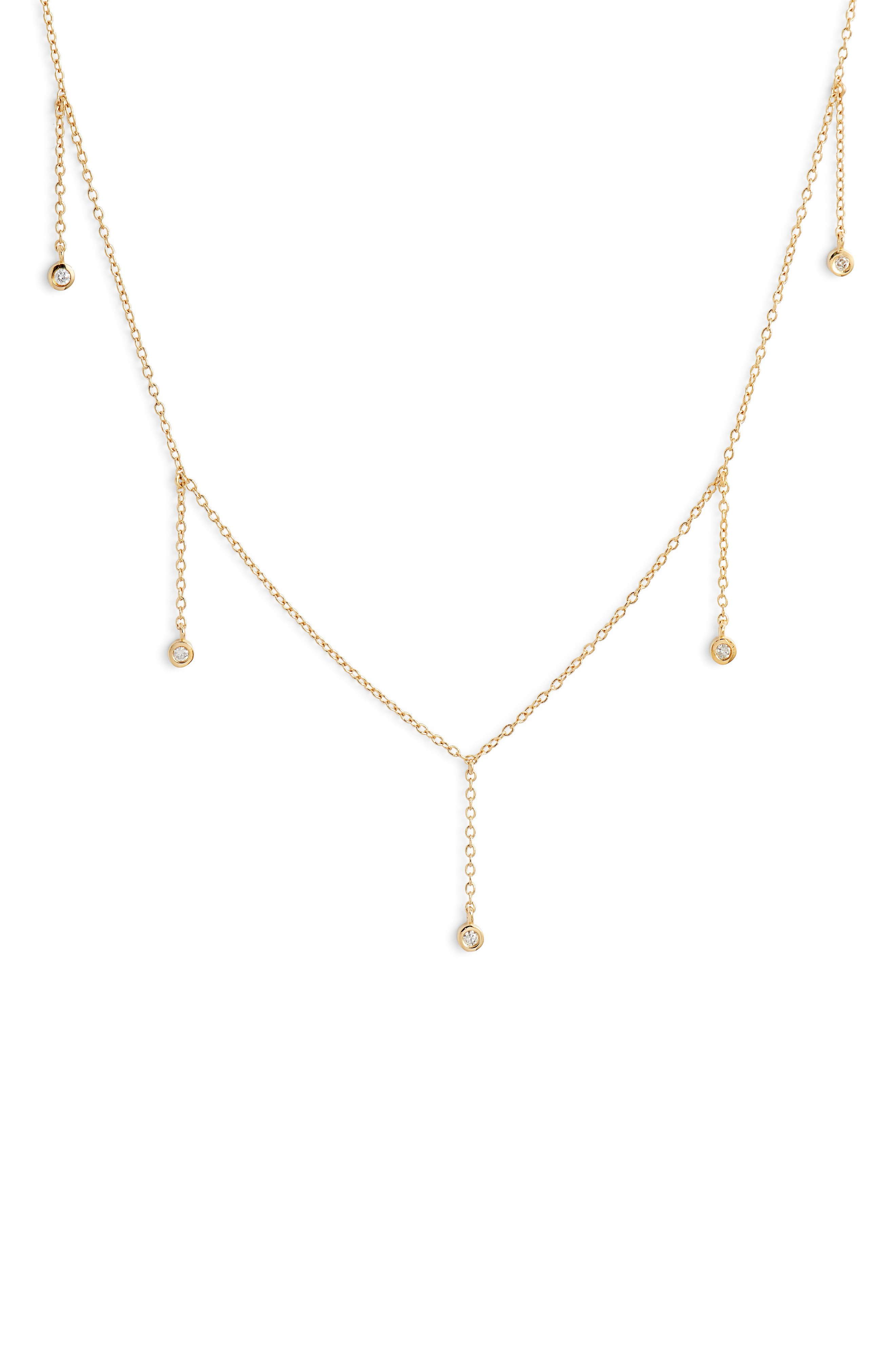 Colette Choker Necklace,                             Alternate thumbnail 2, color,                             Yellow Vermeil