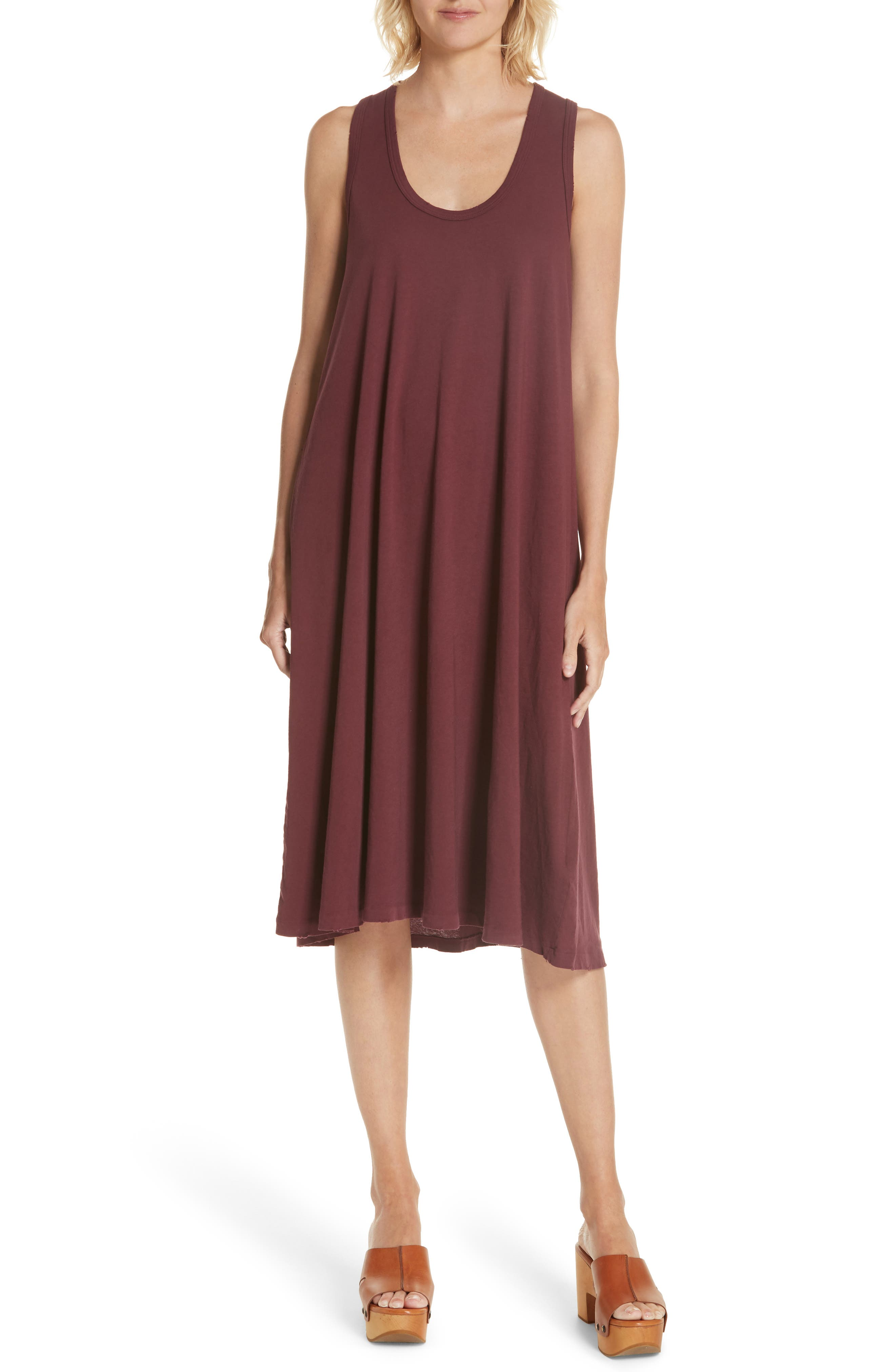 The Swing Tank Dress,                         Main,                         color, Maroon