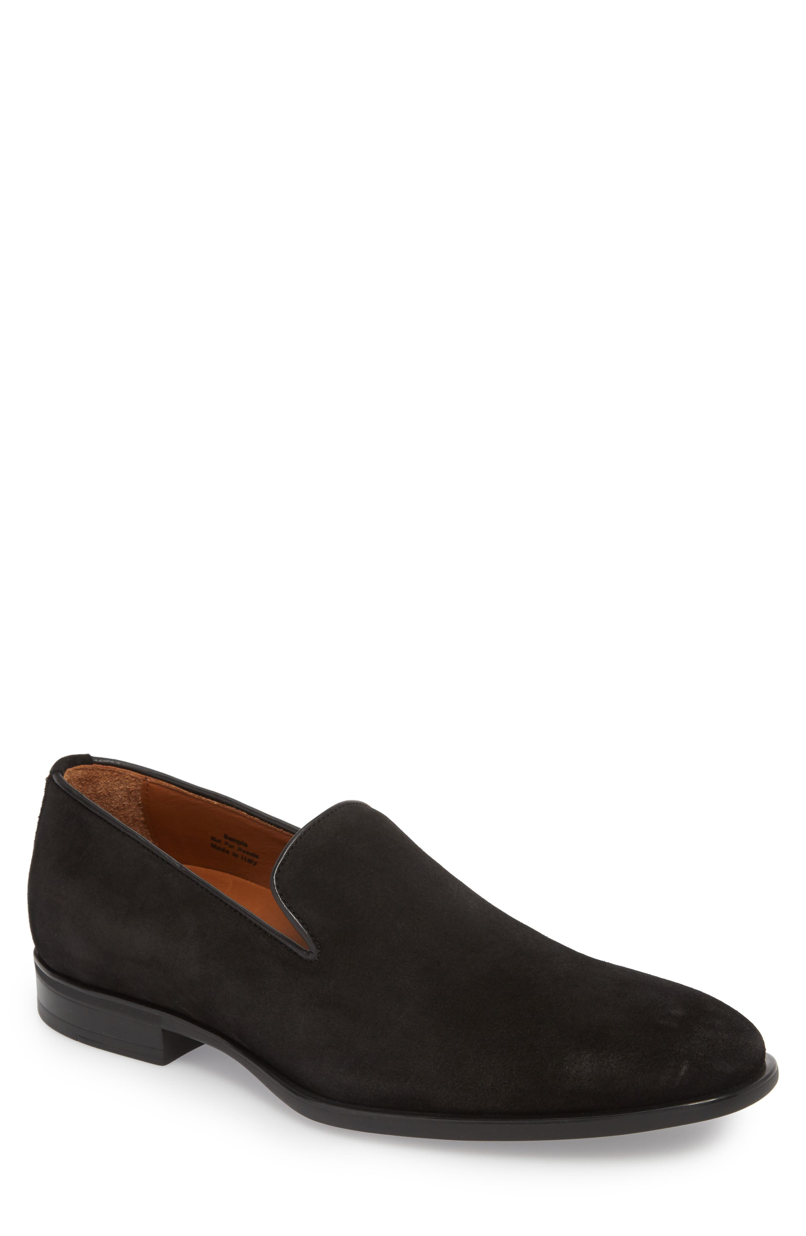 Aiden Venetian Loafer,                             Main thumbnail 1, color,                             Black