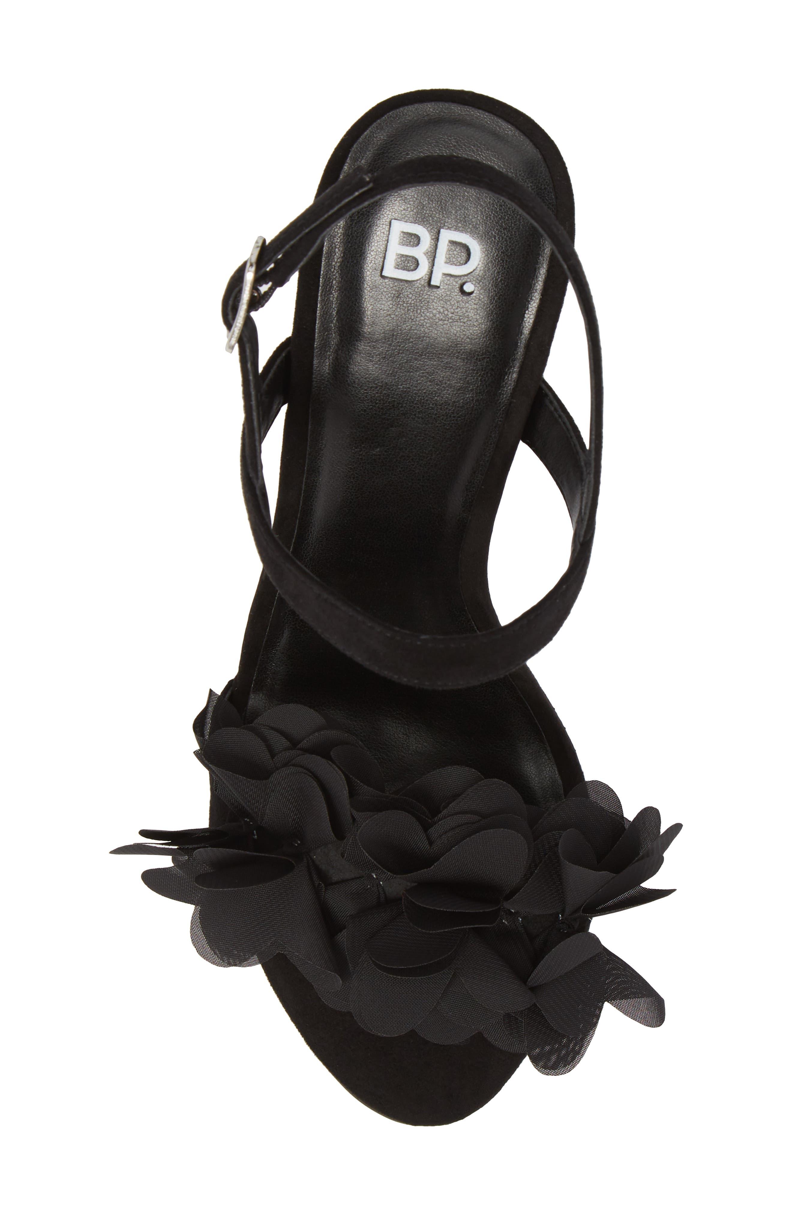 Lula Block Heel Slingback Sandal,                             Alternate thumbnail 5, color,                             Black Flowers Fabric