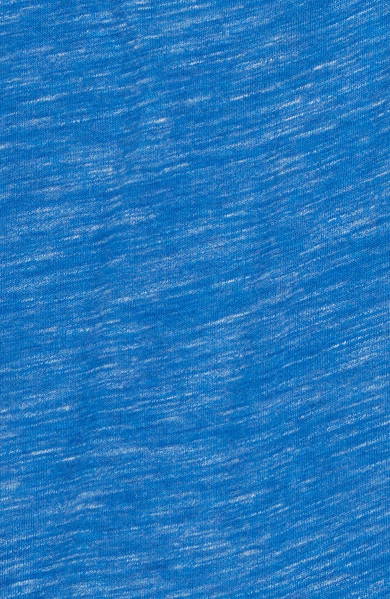 Tie Sleeve Peplum Tee,                             Alternate thumbnail 2, color,                             Blue Monaco Heather