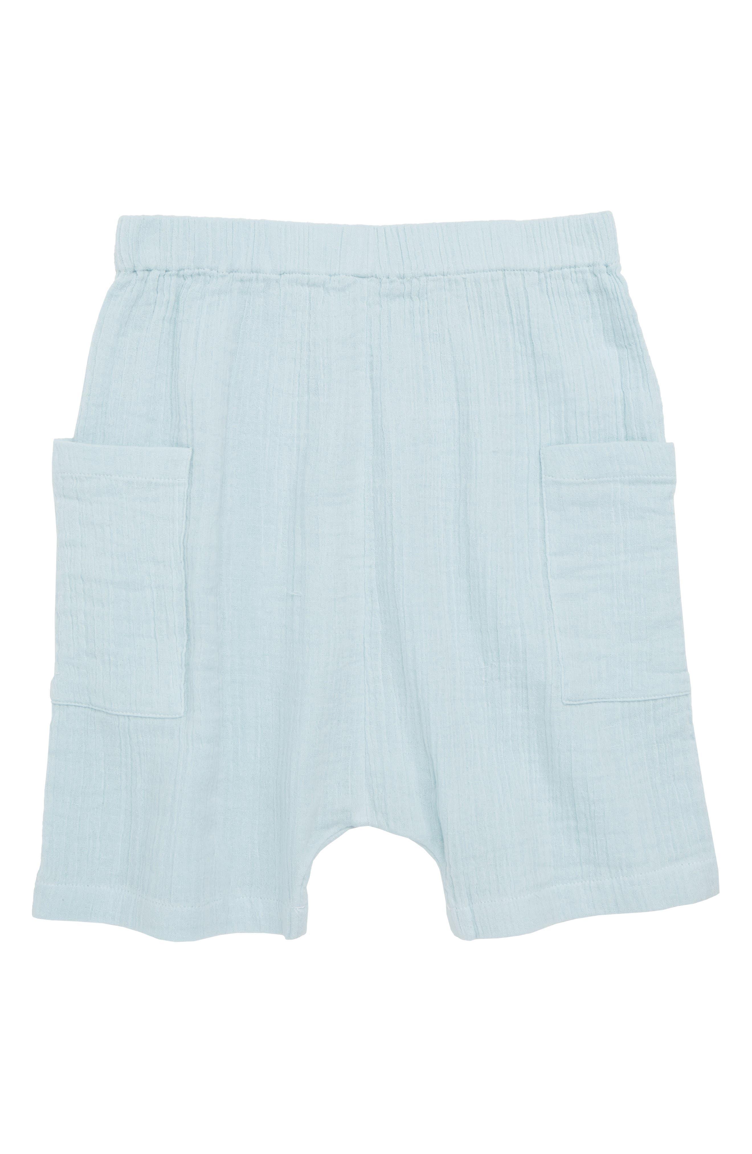 Crepe Moon Shorts,                             Main thumbnail 1, color,                             Blue Sterling
