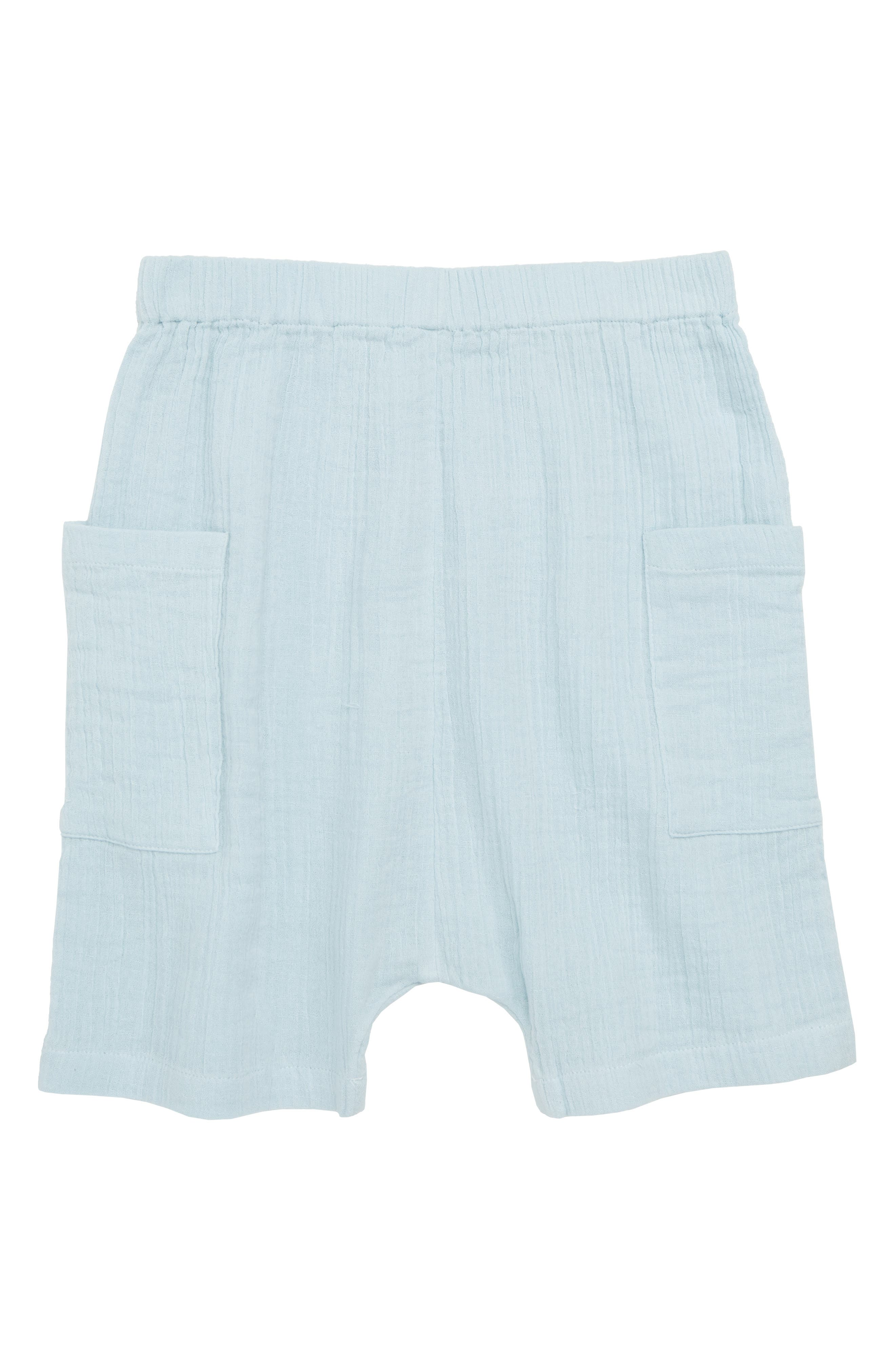 Crepe Moon Shorts,                         Main,                         color, Blue Sterling