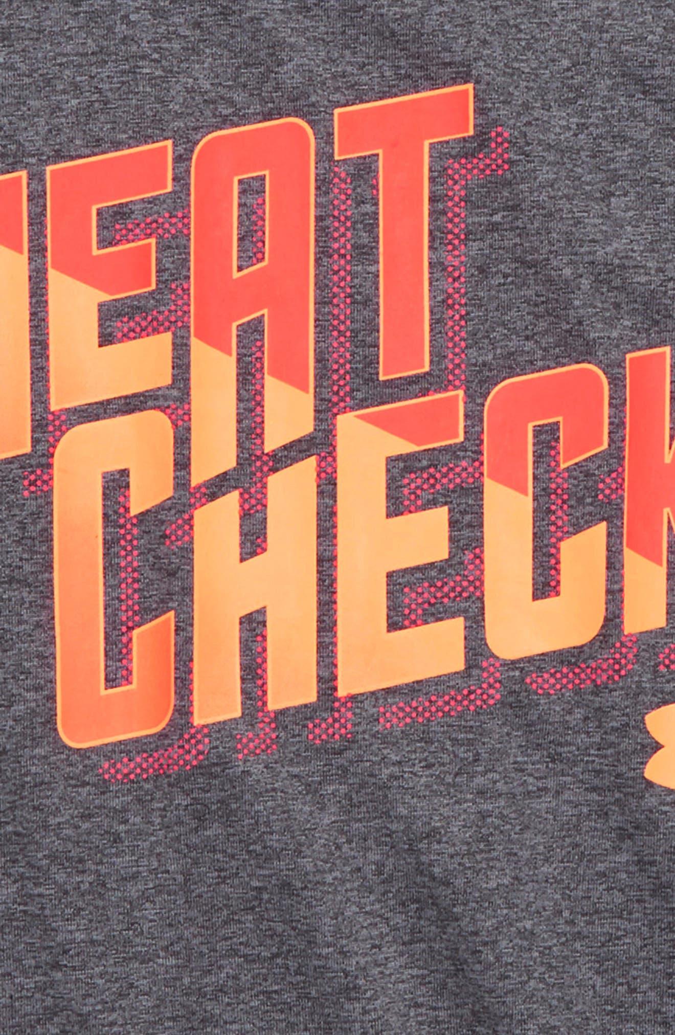 Heat Check Graphic HeatGear<sup>®</sup> Shirt,                             Alternate thumbnail 2, color,                             Carbon Heather