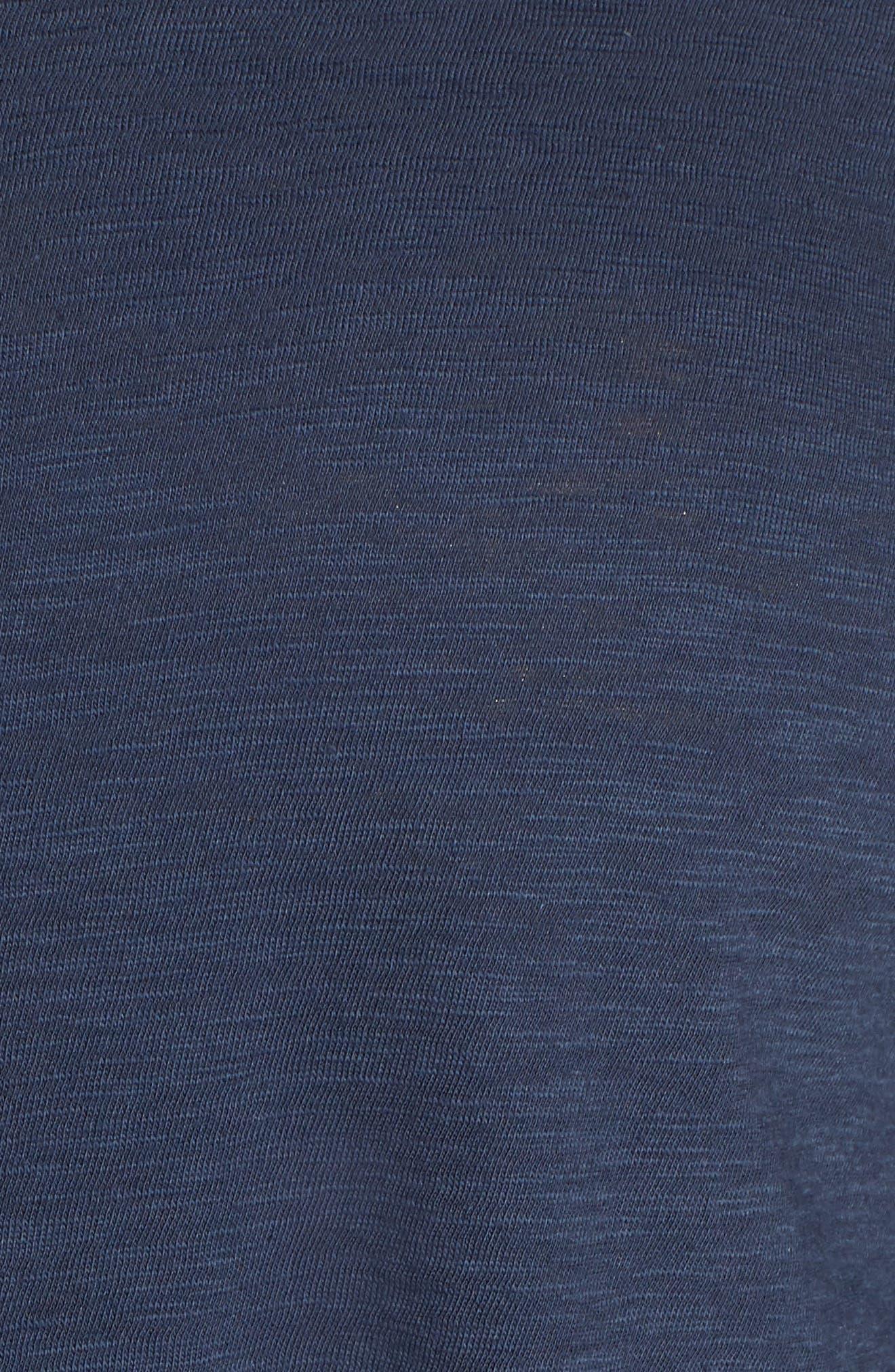 Dolman Sleeve Tee,                             Alternate thumbnail 5, color,                             Navy Indigo