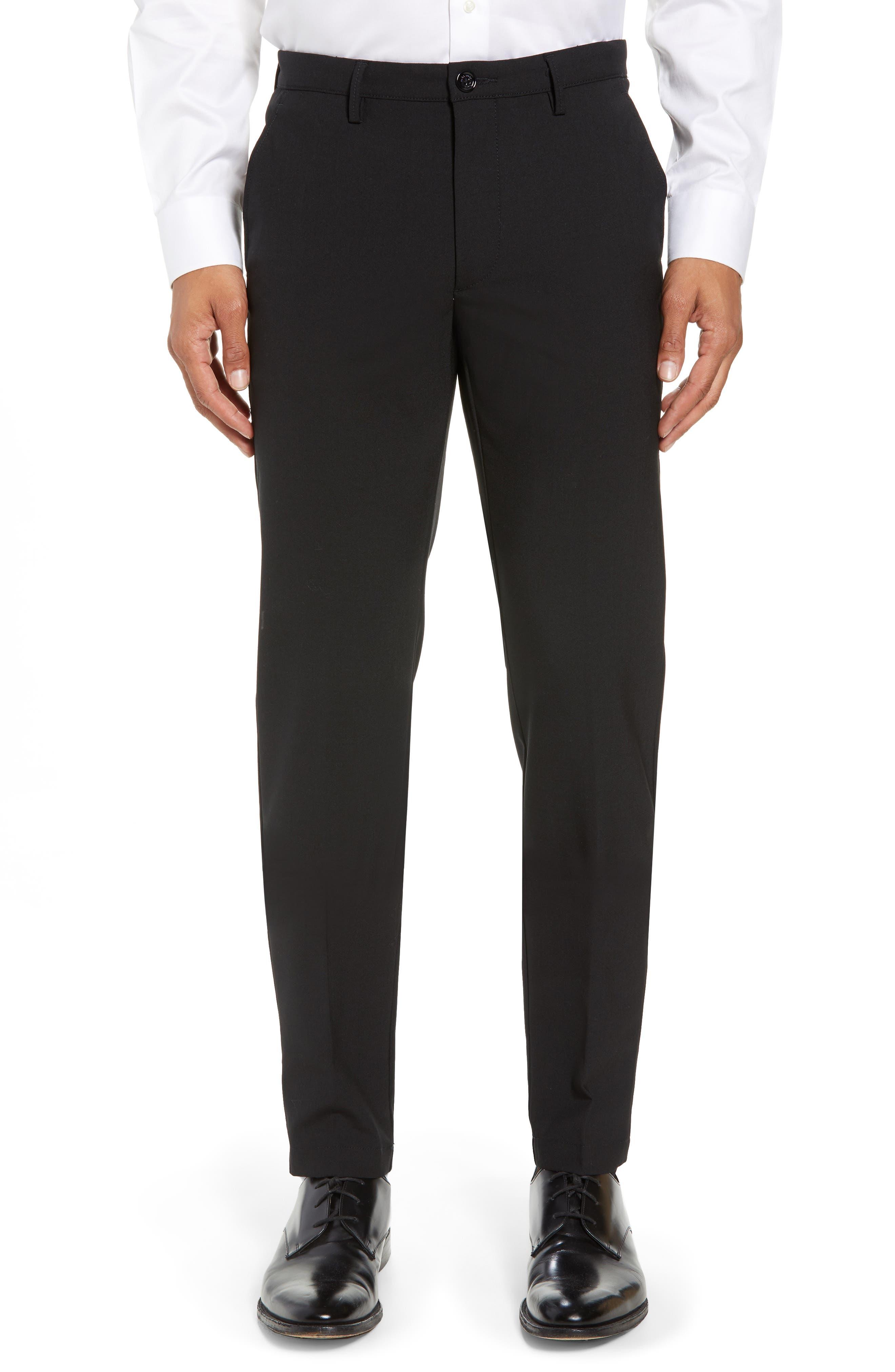 Kaito Slim Fit Trousers,                             Main thumbnail 1, color,                             Black