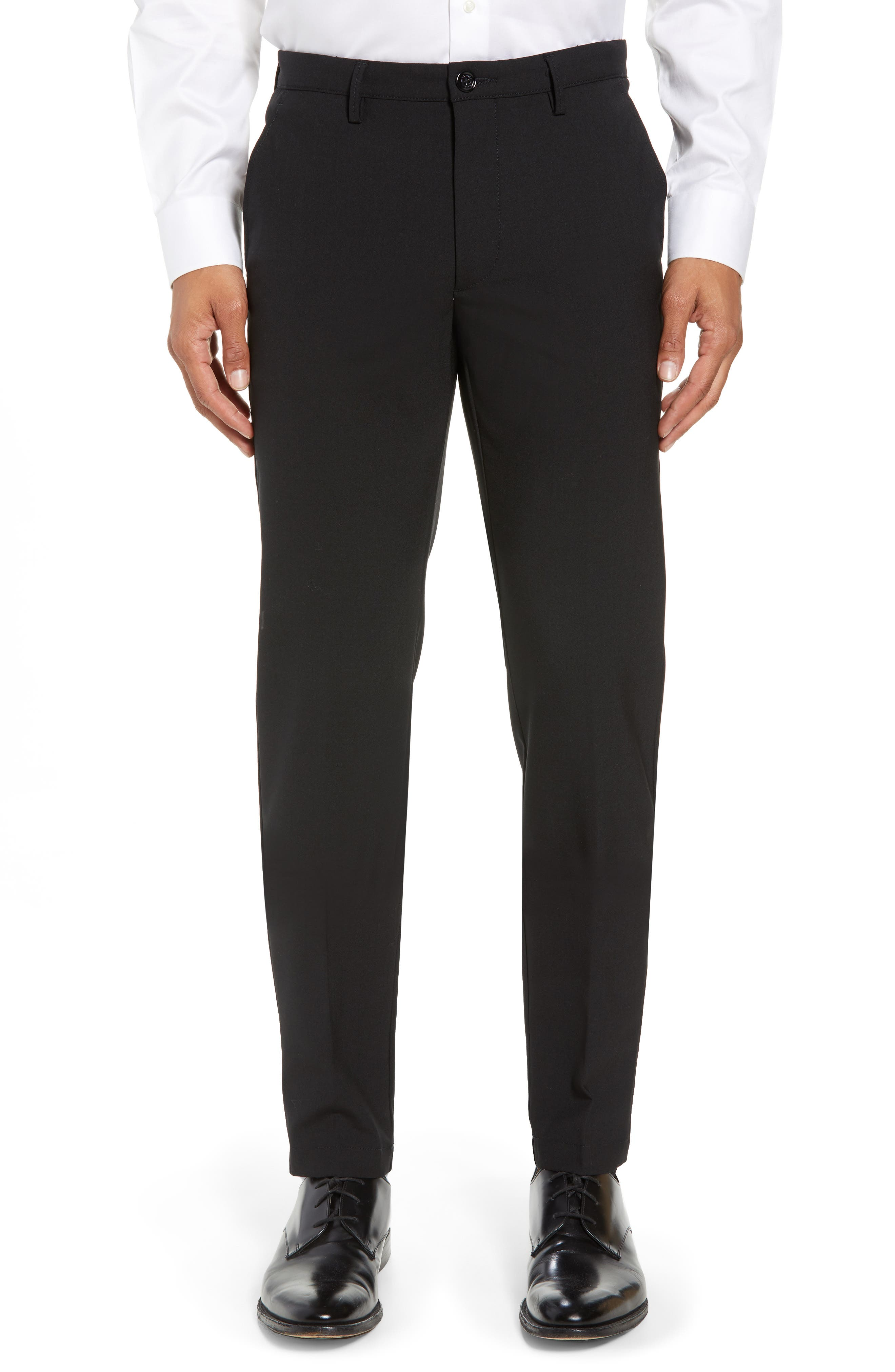 Kaito Slim Fit Trousers,                         Main,                         color, Black
