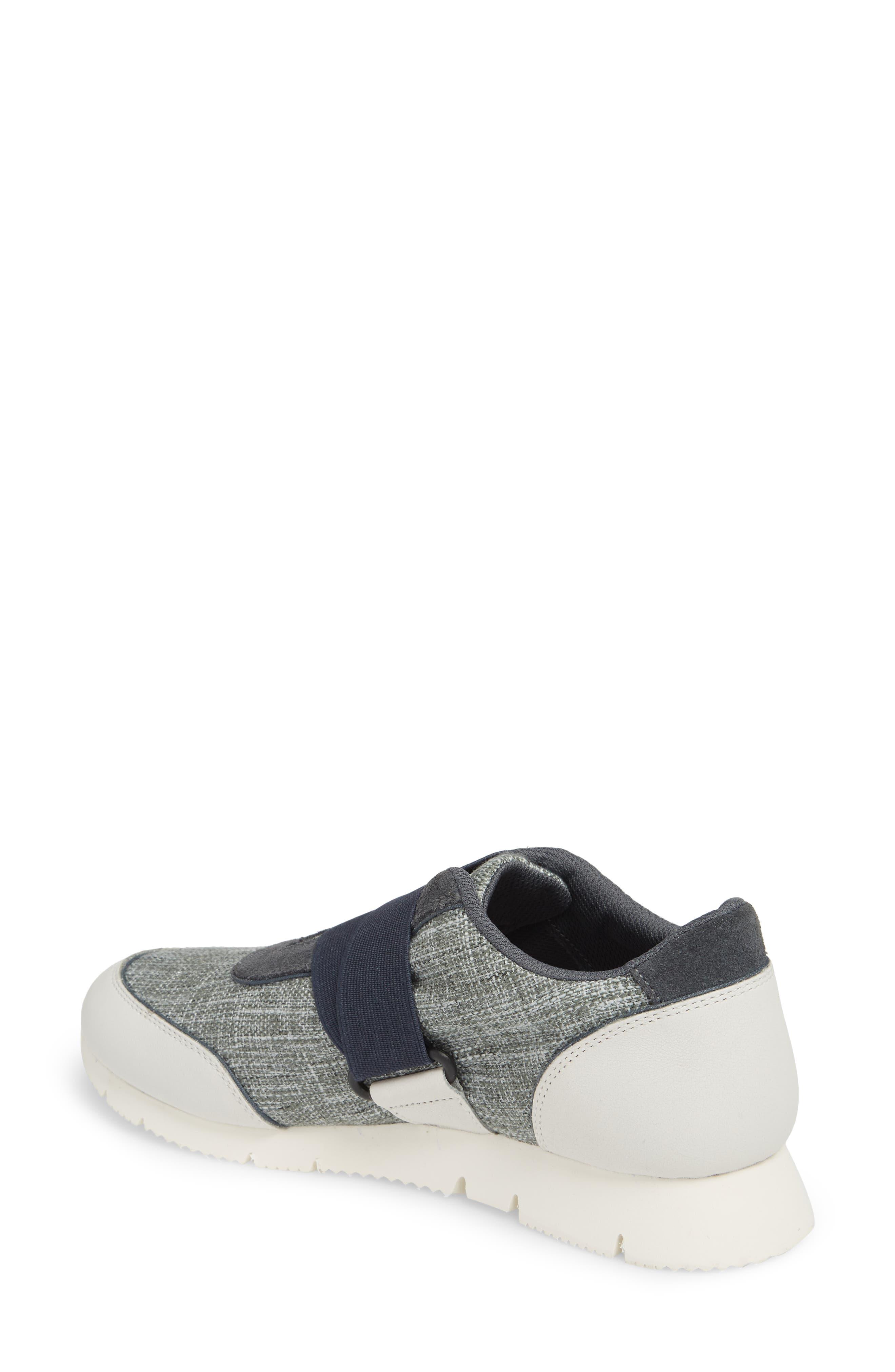 Cross Strap Sports Sneaker,                             Alternate thumbnail 2, color,                             Blue/ White