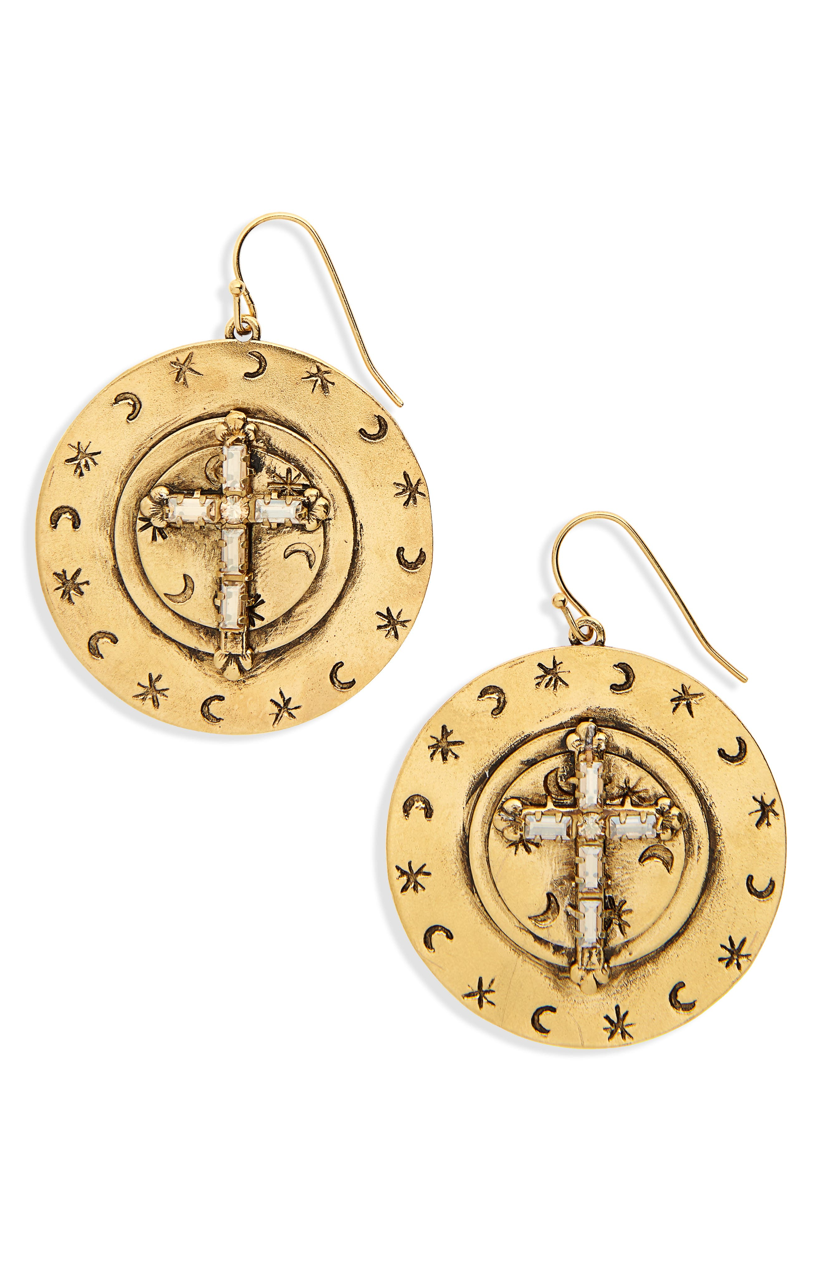 Mother Goddess Apogee Earrings,                         Main,                         color, Gold