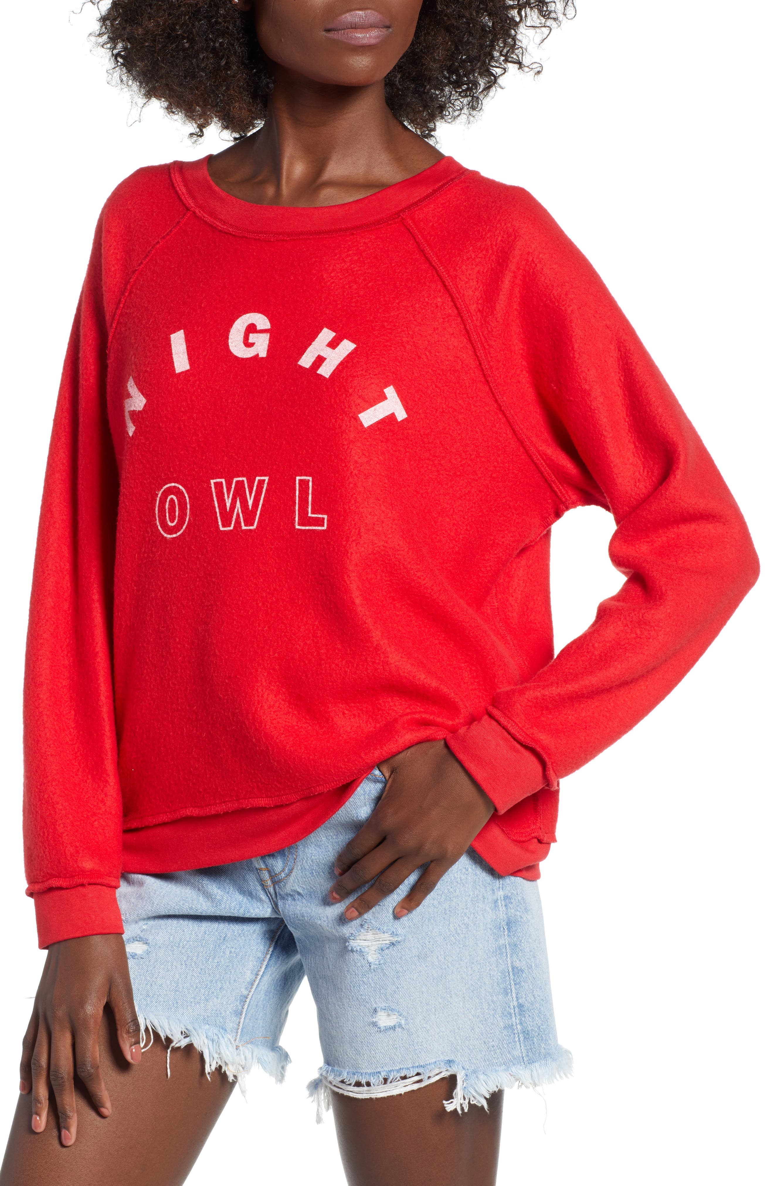 Reversible Sweatshirt,                             Alternate thumbnail 2, color,                             Red
