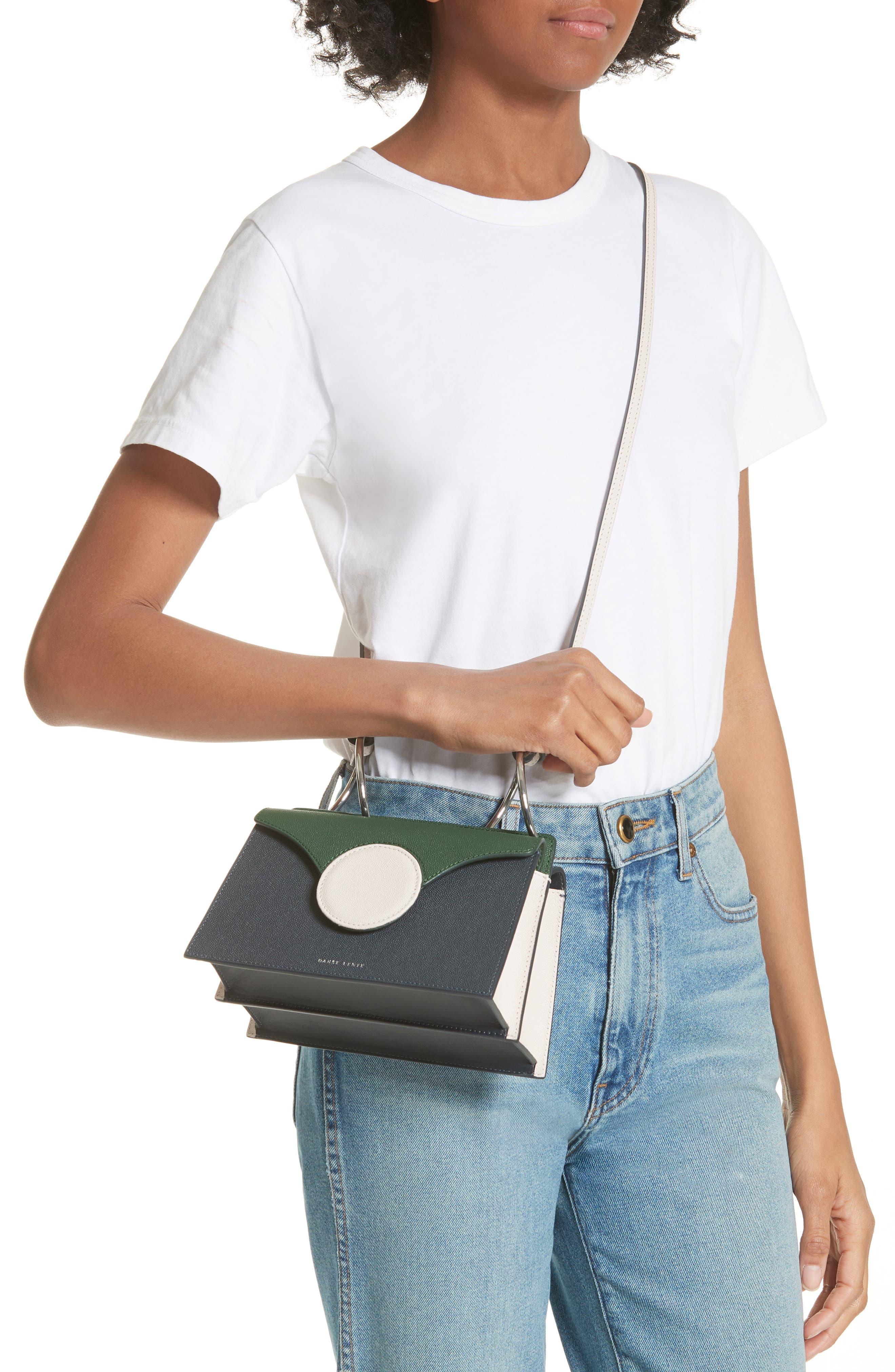 Mini Phoebe Leather Bag,                             Alternate thumbnail 2, color,                             Pine-Marine