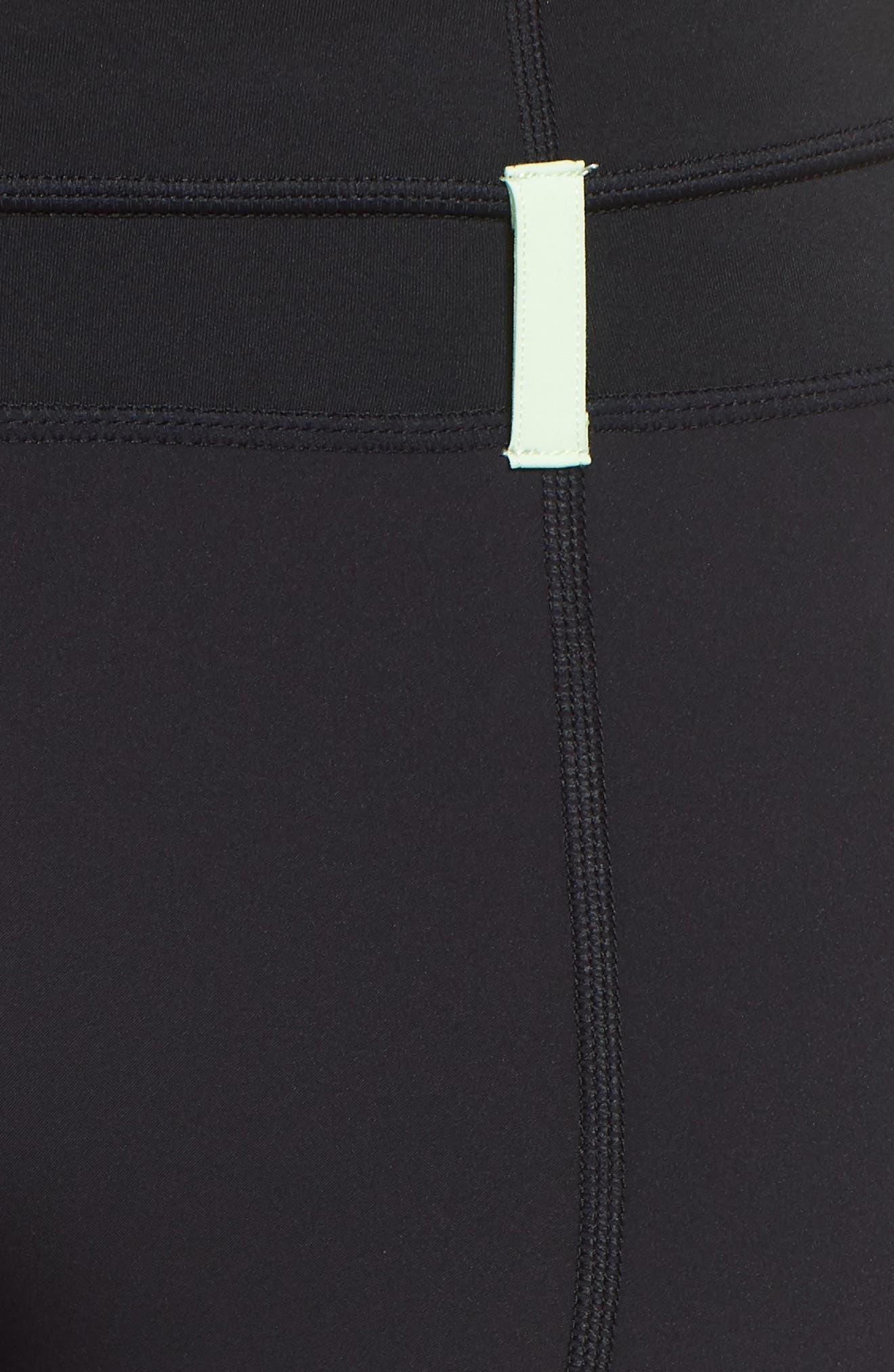 NRG Women's Dri-FIT Tights,                             Alternate thumbnail 5, color,                             Black/ Vapor Green/ Black