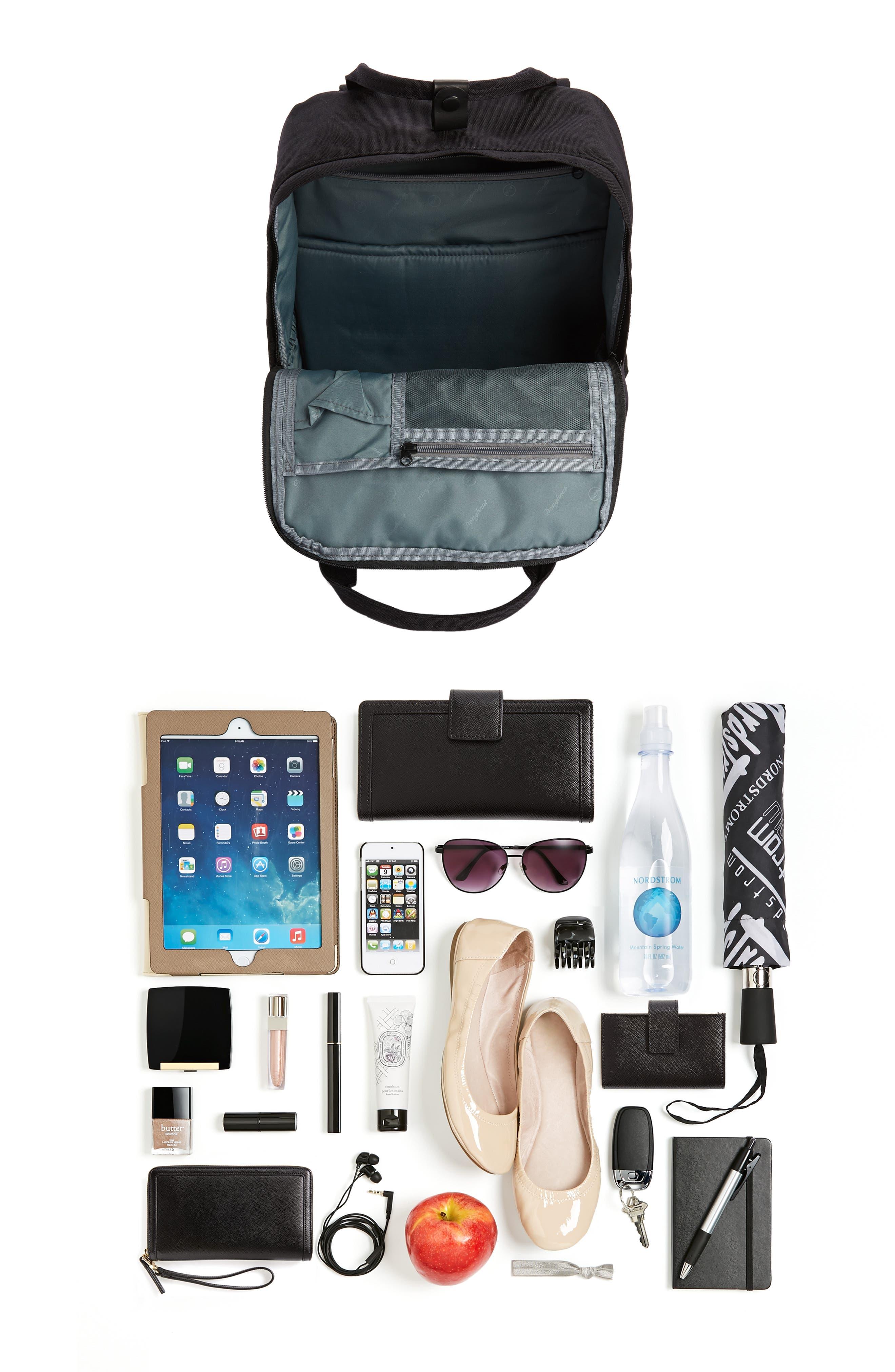Macaroon Large Cordura<sup>®</sup> Black Series Water Repellent Backpack,                             Alternate thumbnail 7, color,                             Black
