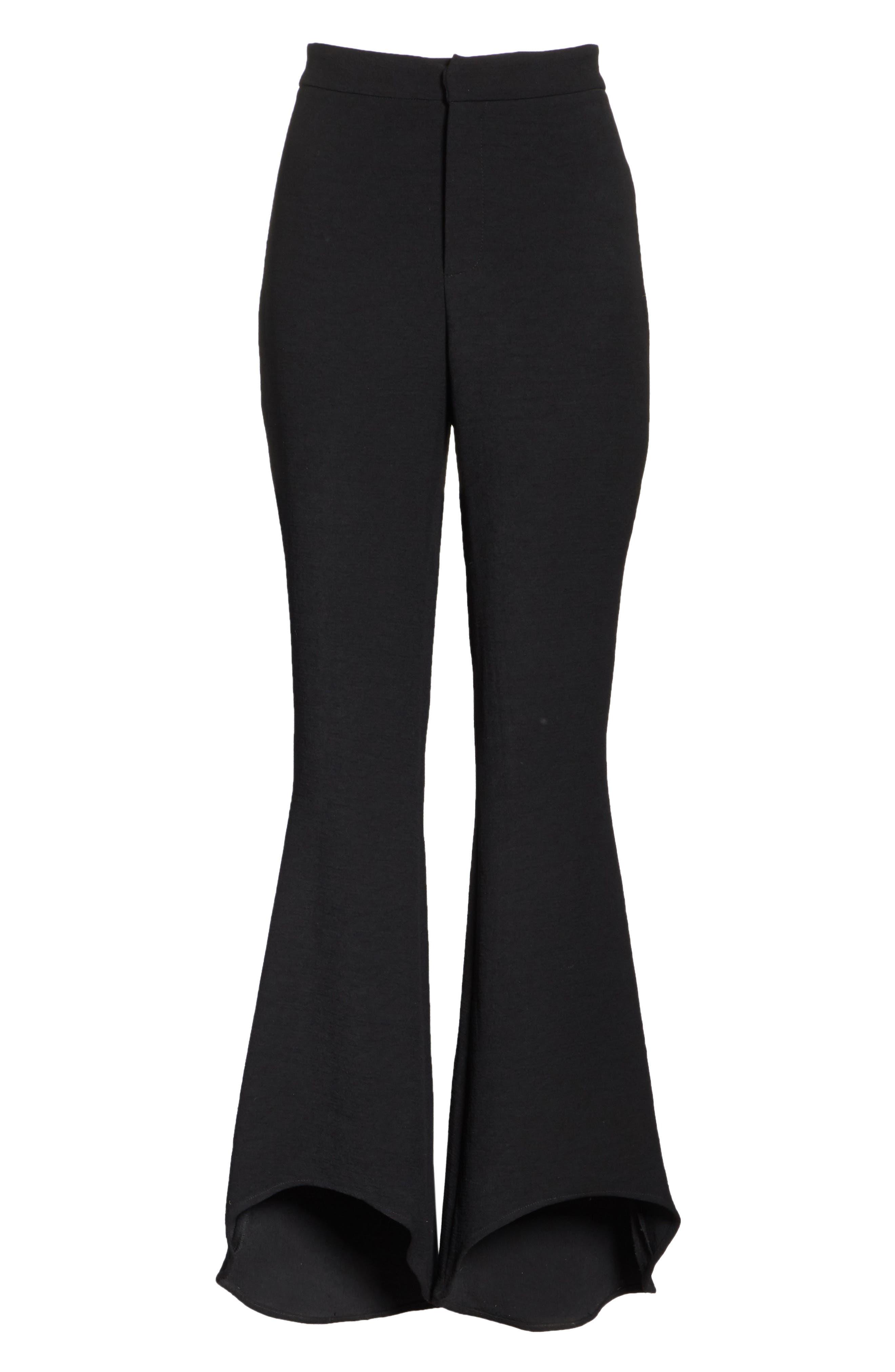 The Carmen Flare Pants,                             Alternate thumbnail 6, color,                             Black
