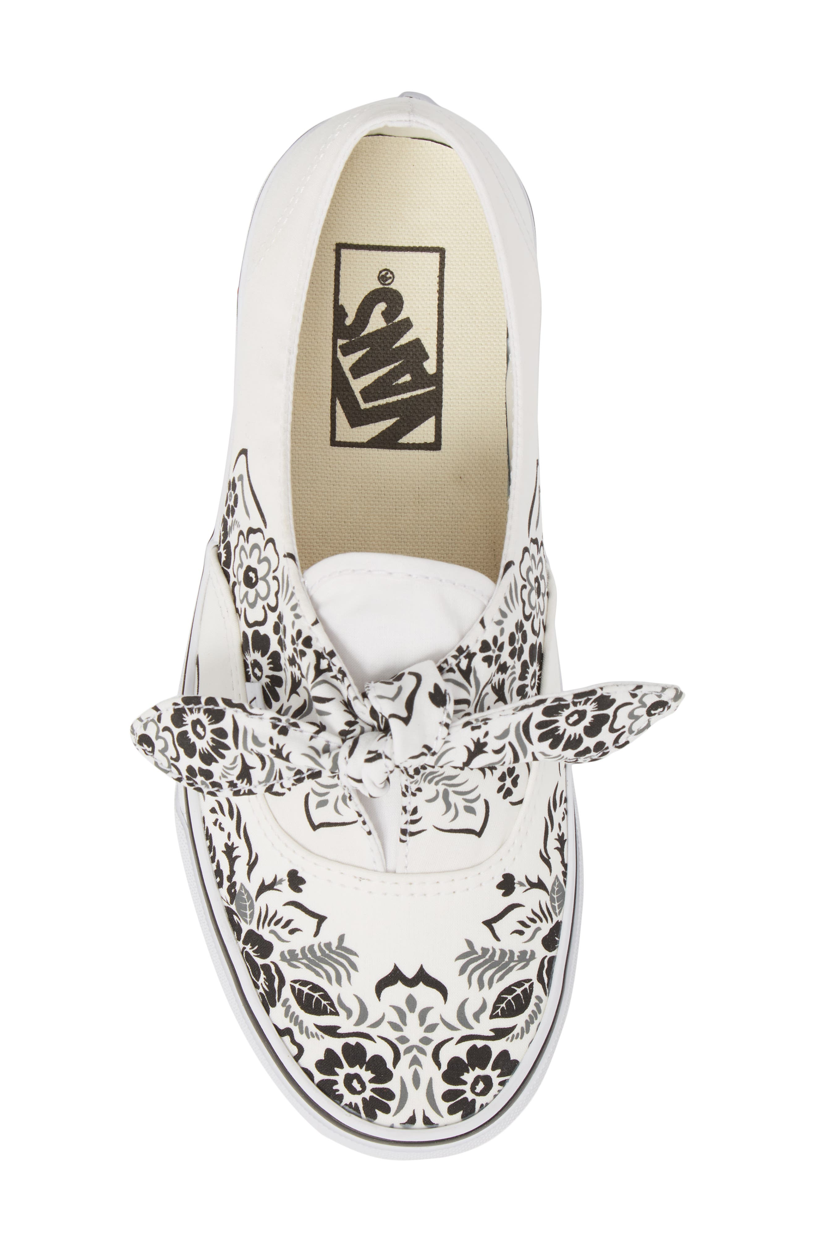 UA Authentic Knotted Floral Bandana Slip-On Sneaker,                             Alternate thumbnail 4, color,                             Marshmallow