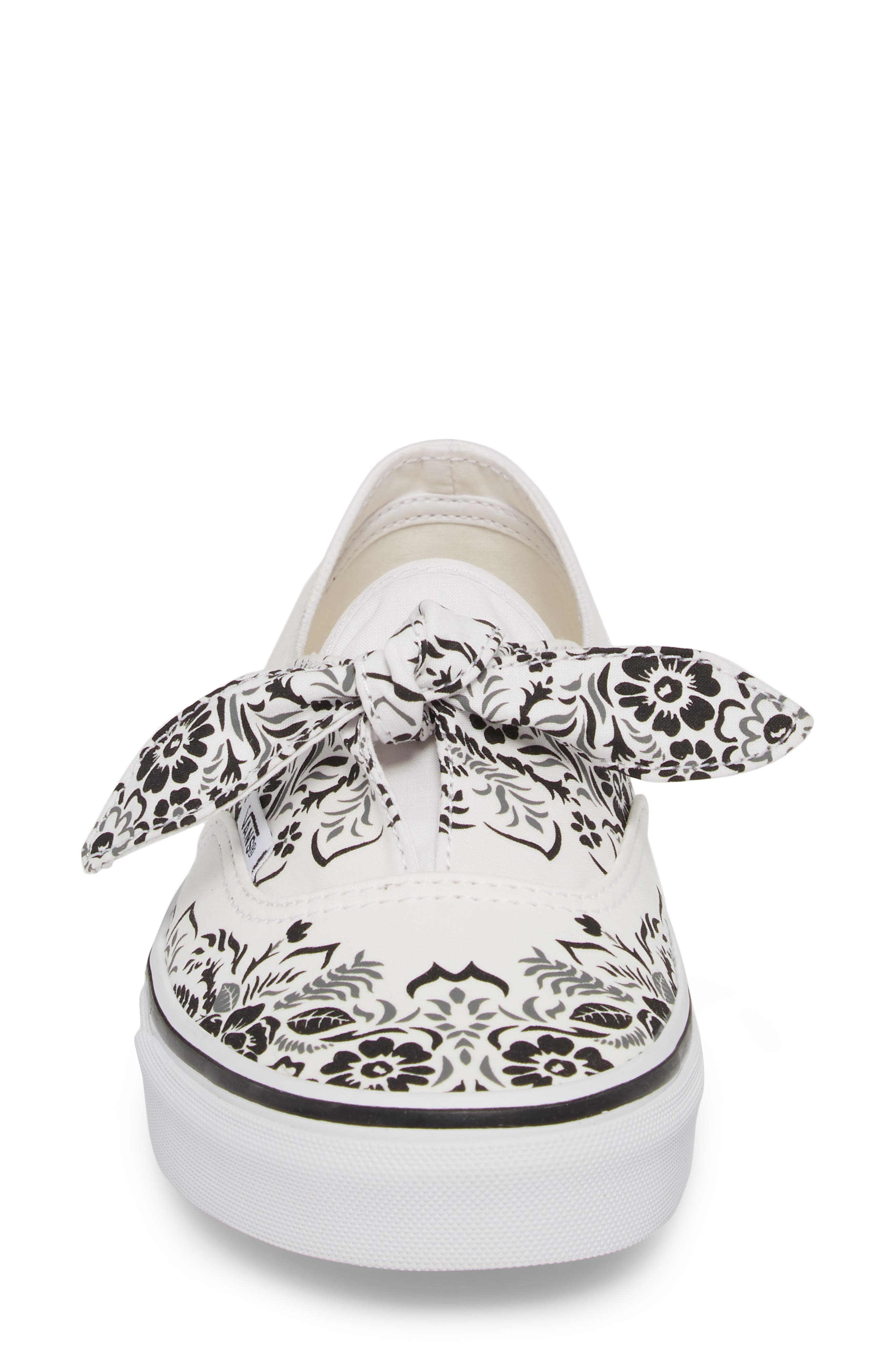 UA Authentic Knotted Floral Bandana Slip-On Sneaker,                             Alternate thumbnail 6, color,                             Marshmallow