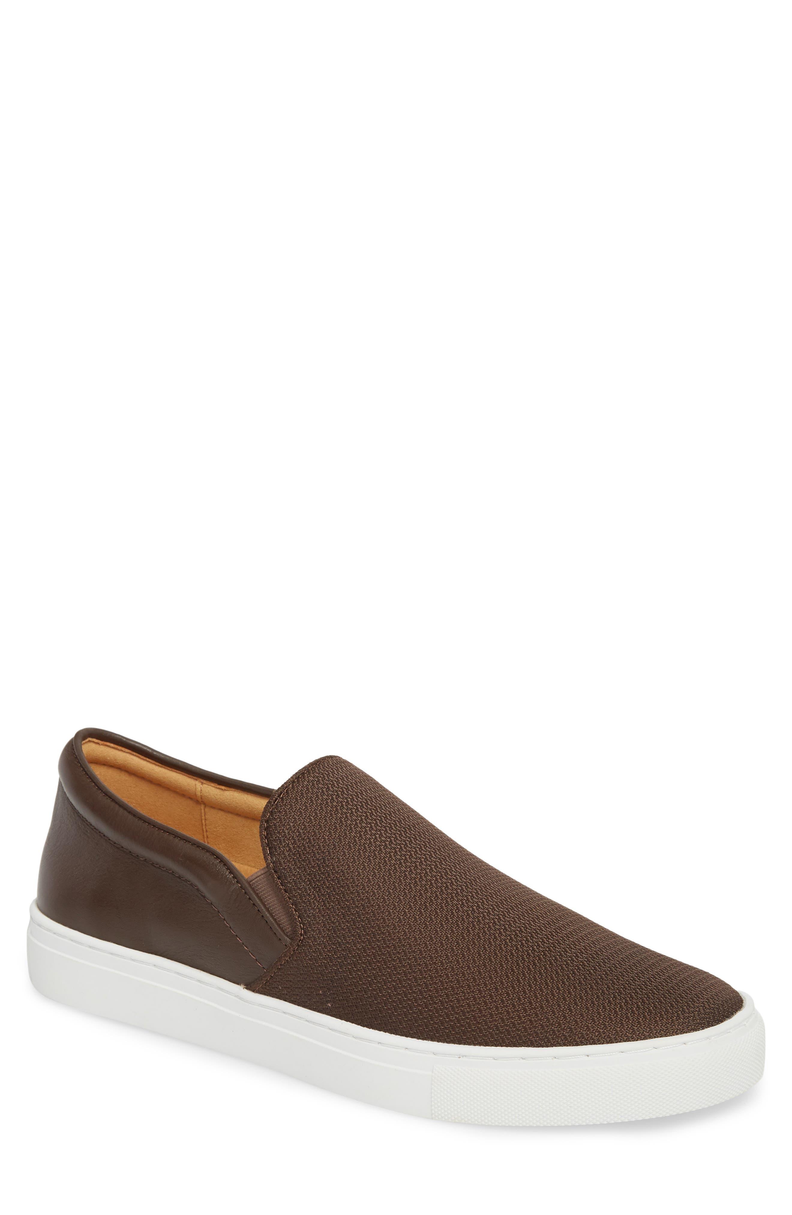 Albin Raffia Slip-On Sneaker,                             Main thumbnail 1, color,                             Espresso
