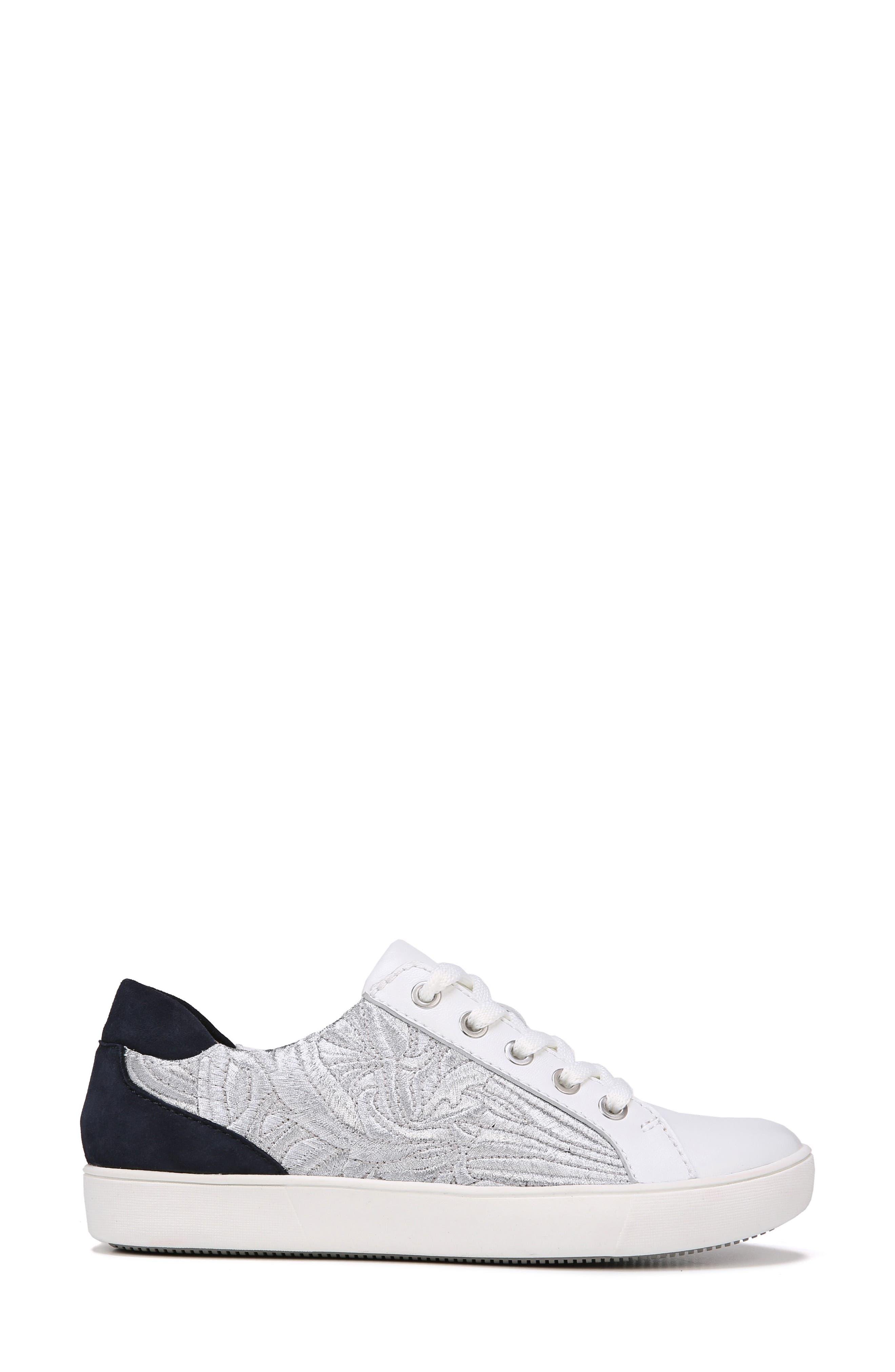 Morrison Sneaker,                             Alternate thumbnail 5, color,                             White/ Silver Leather