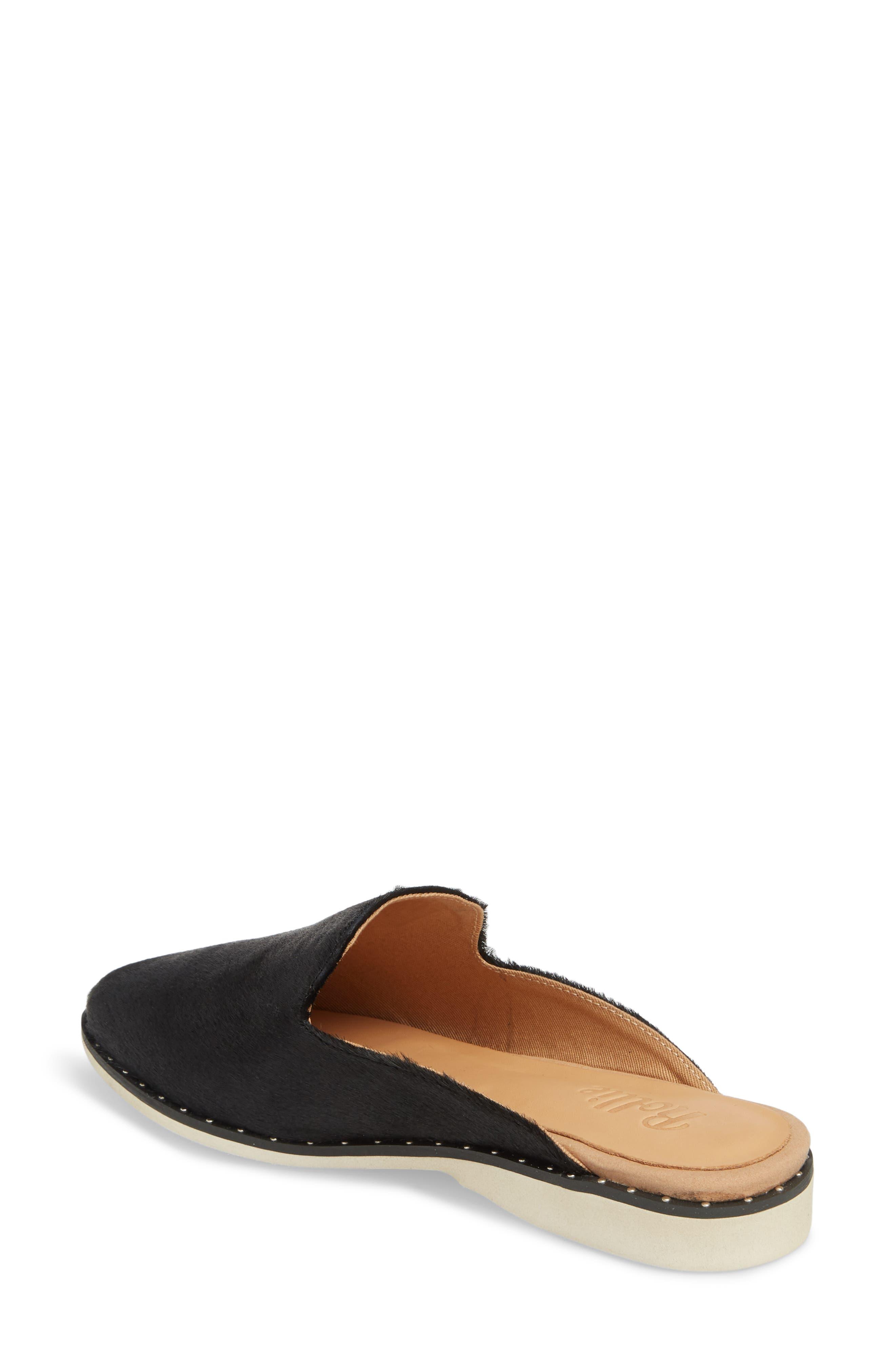Madison Studded Genuine Calf Hair Loafer Mule,                             Alternate thumbnail 2, color,                             Black Calf Hair