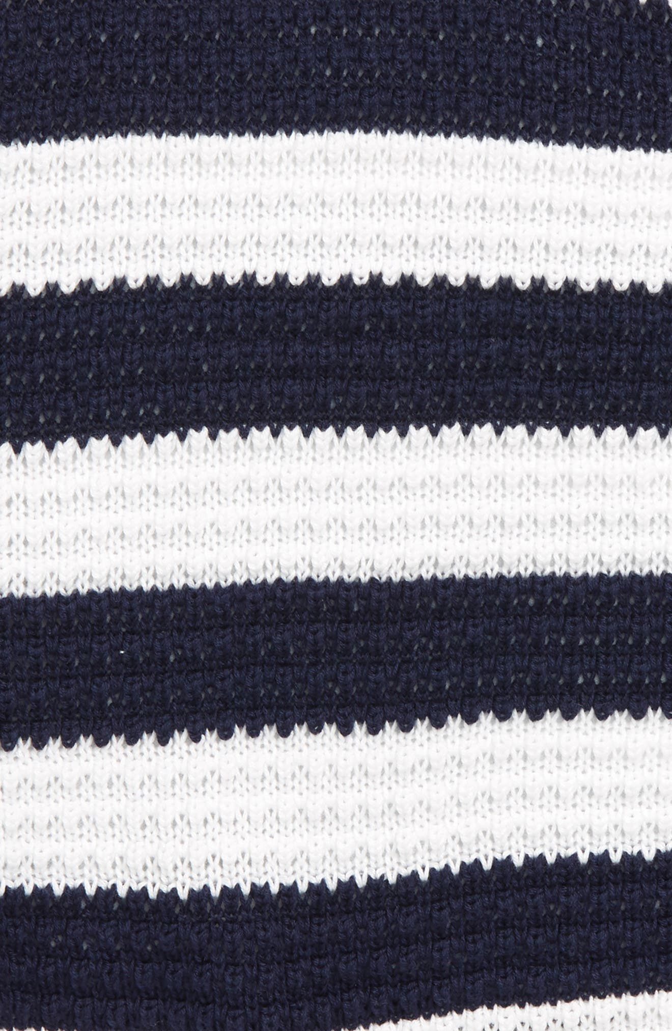Stripe Halter Sweater,                             Alternate thumbnail 2, color,                             Navy/ White