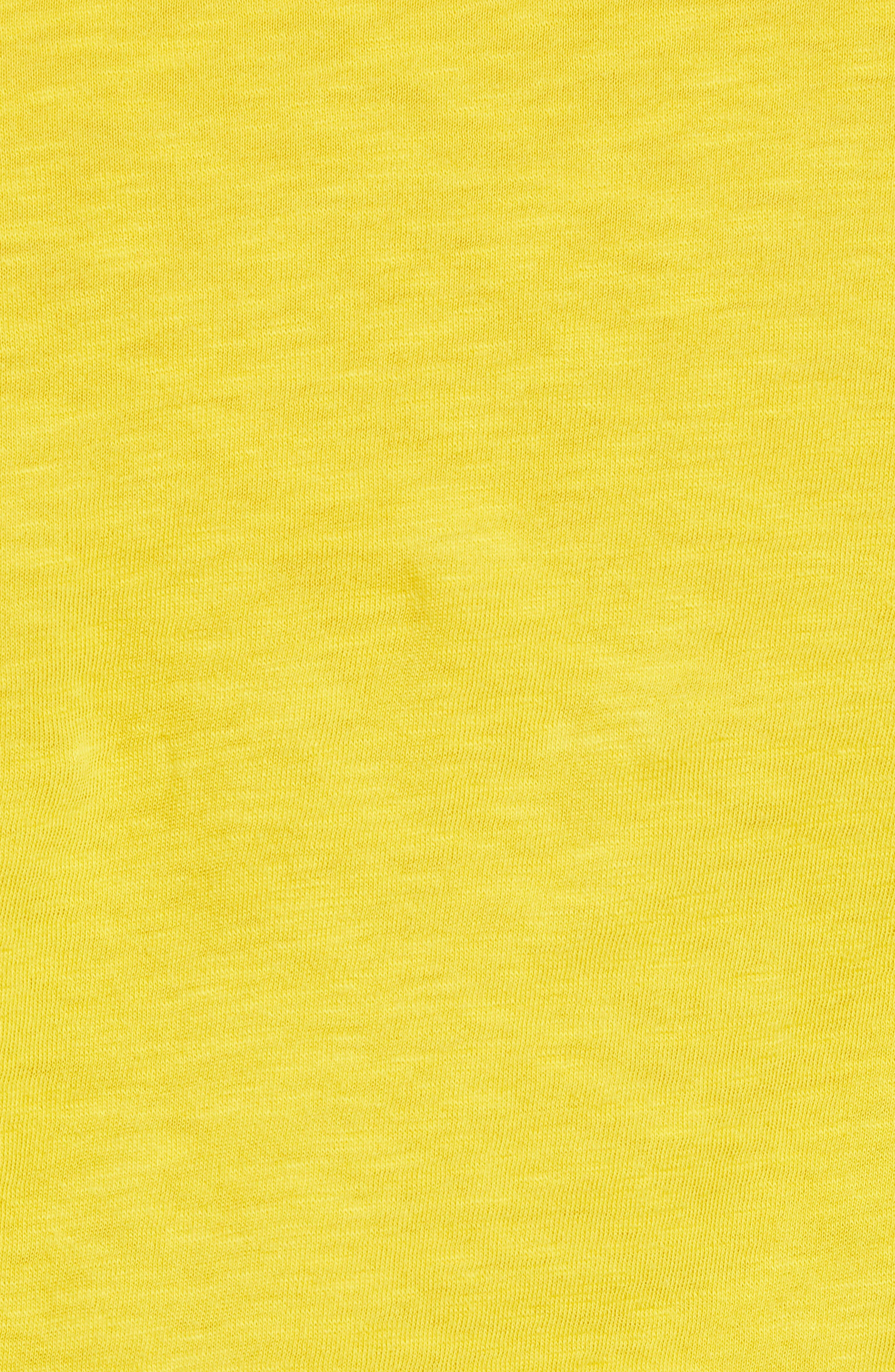Lightweight Colorblock Cotton Tee,                             Alternate thumbnail 28, color,                             Yellow- White Lukah Combo