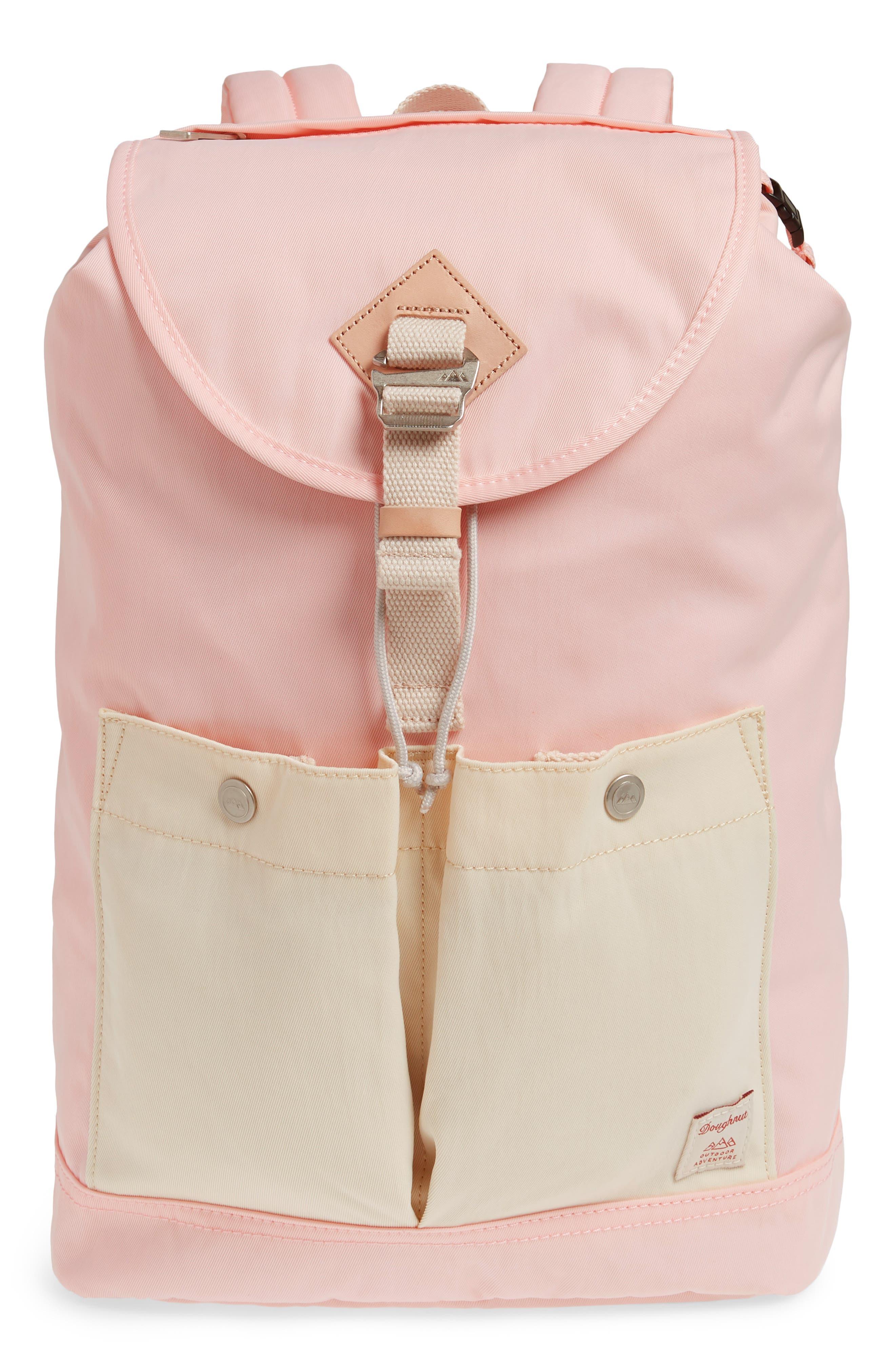 DOUGHNUT Montana Water Repellent Backpack - Pink in Sakura/ Cream