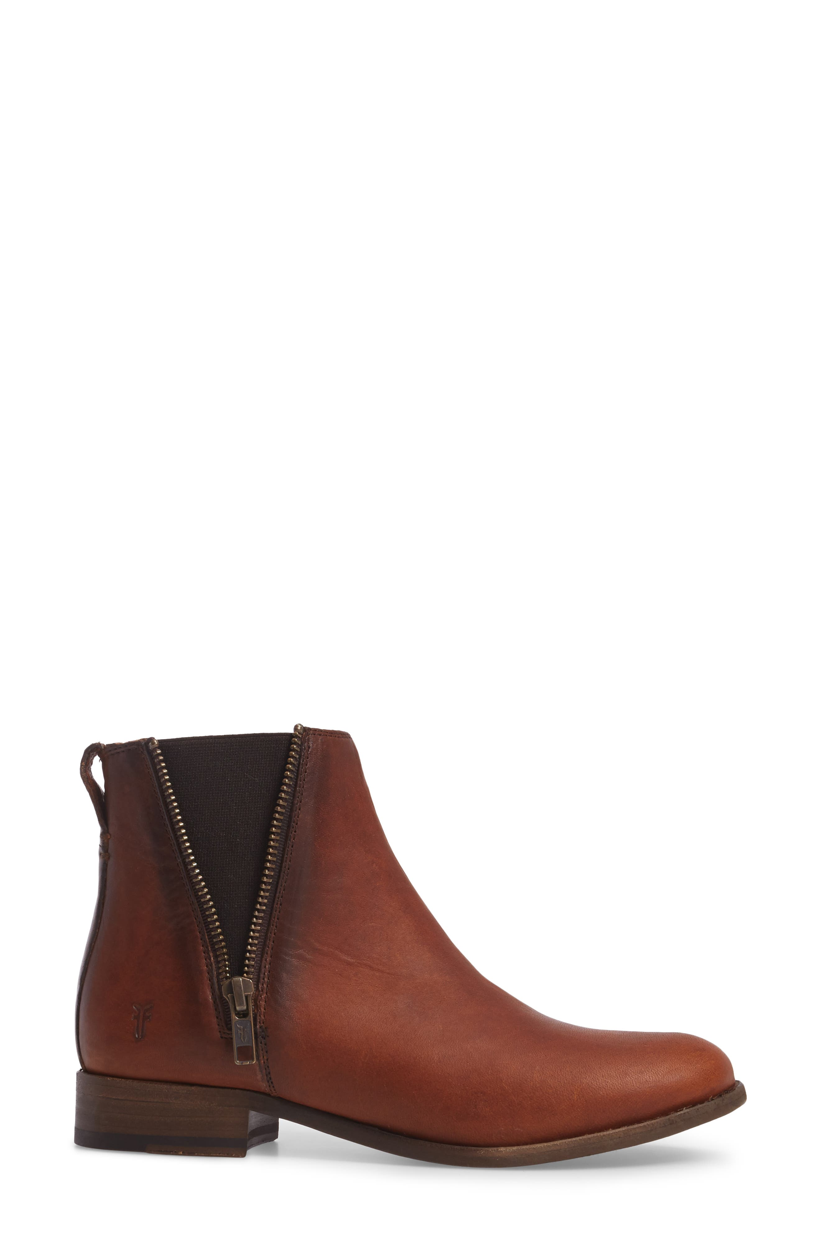 Carly Chelsea Boot,                             Alternate thumbnail 3, color,                             Cognac Leather