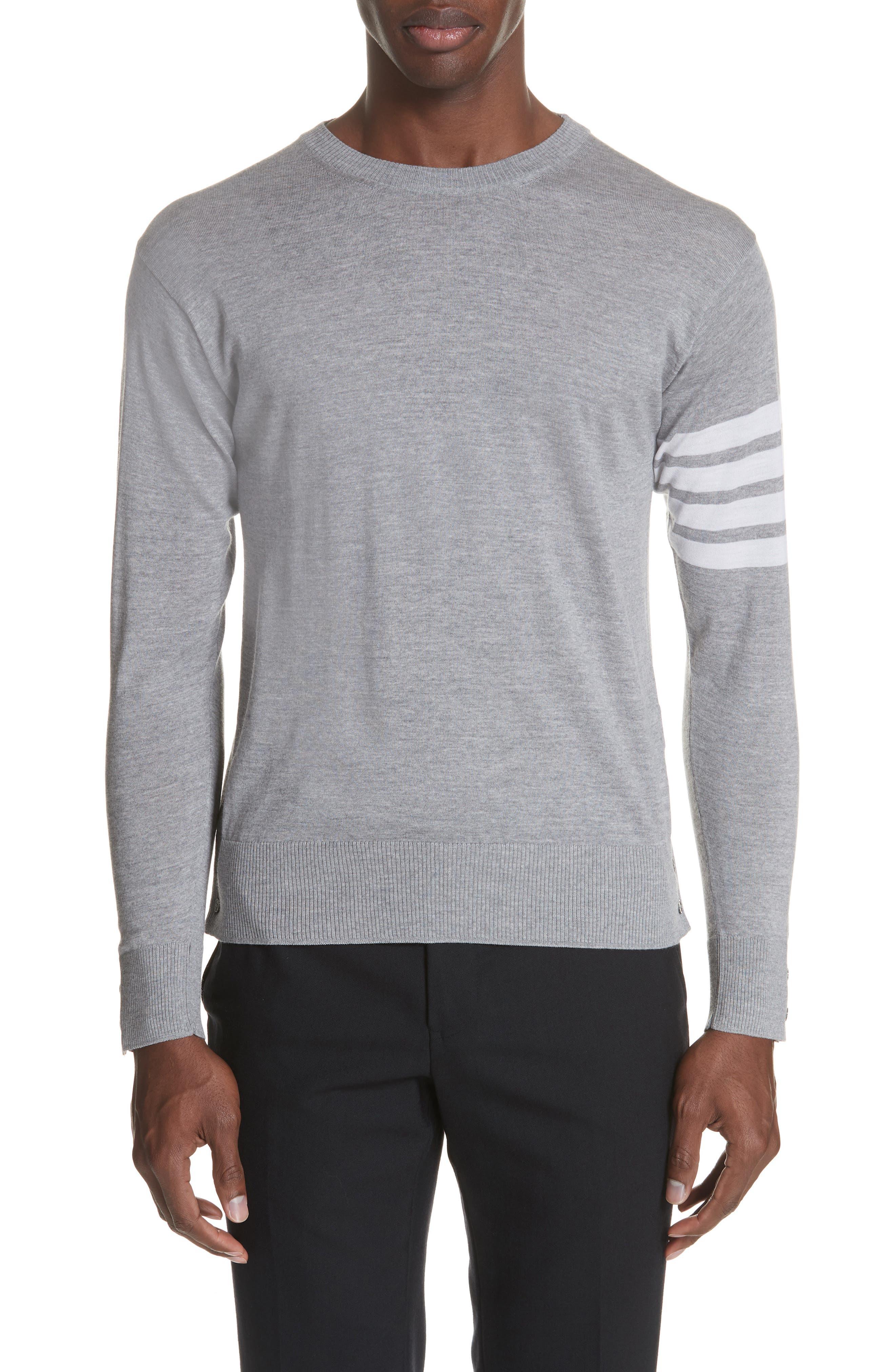 Merino Wool Pullover,                             Main thumbnail 1, color,                             Light Grey
