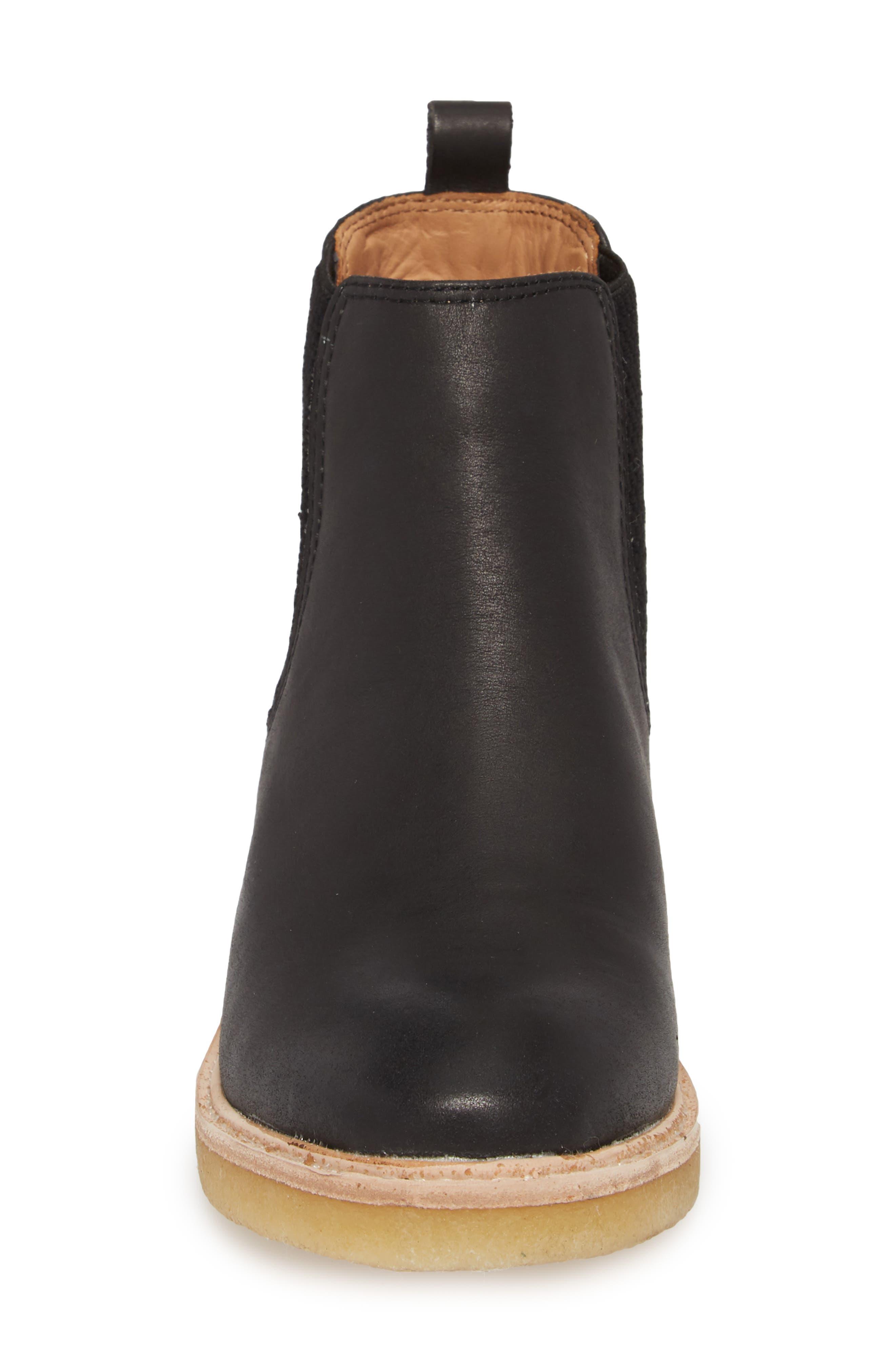 Mira Chelsea Bootie,                             Alternate thumbnail 3, color,                             Black Leather