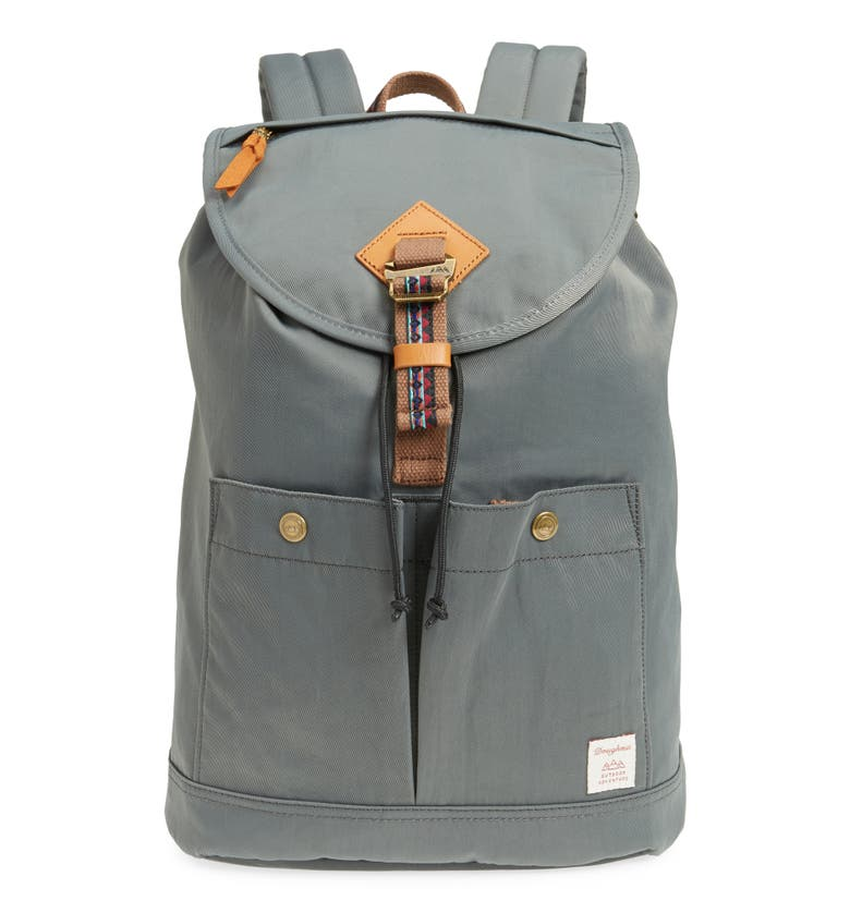 Doughnut Montana Bo-He Water Repellent Backpack - Grey In Charcoal ... 2faebea69e2eb
