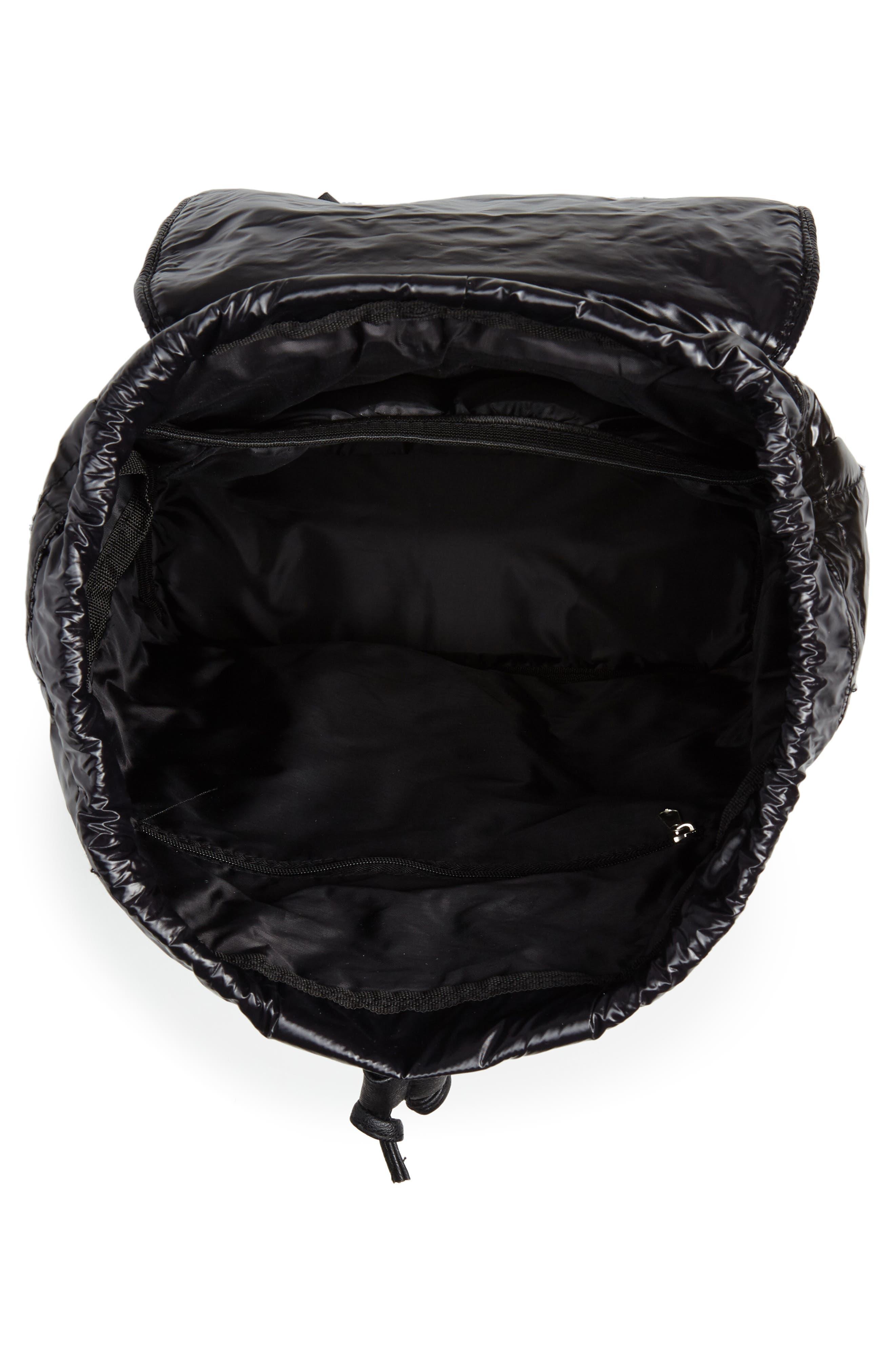 Puffer Backpack,                             Alternate thumbnail 6, color,                             Black