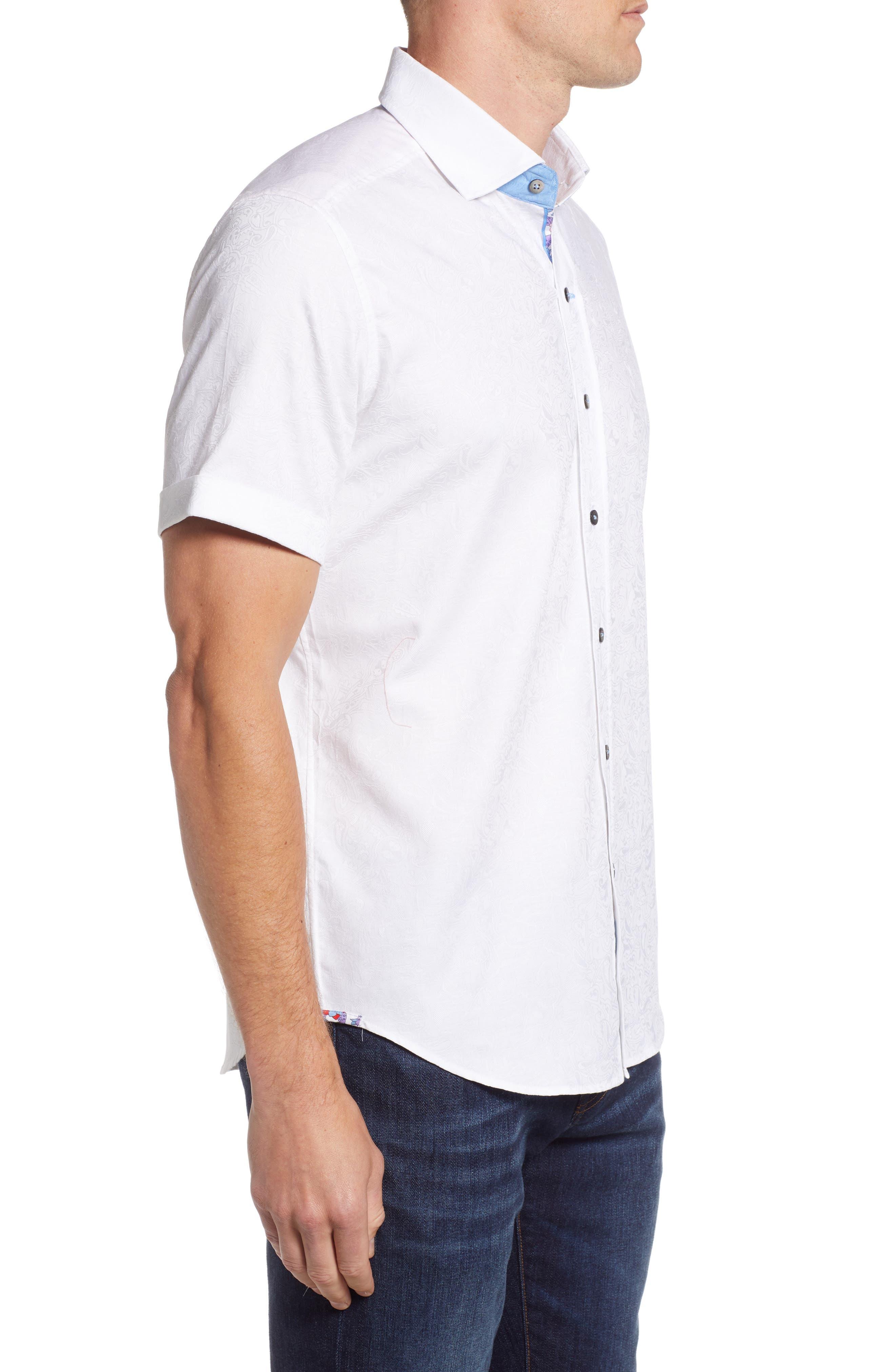 Abbott Sport Shirt,                             Alternate thumbnail 4, color,                             White