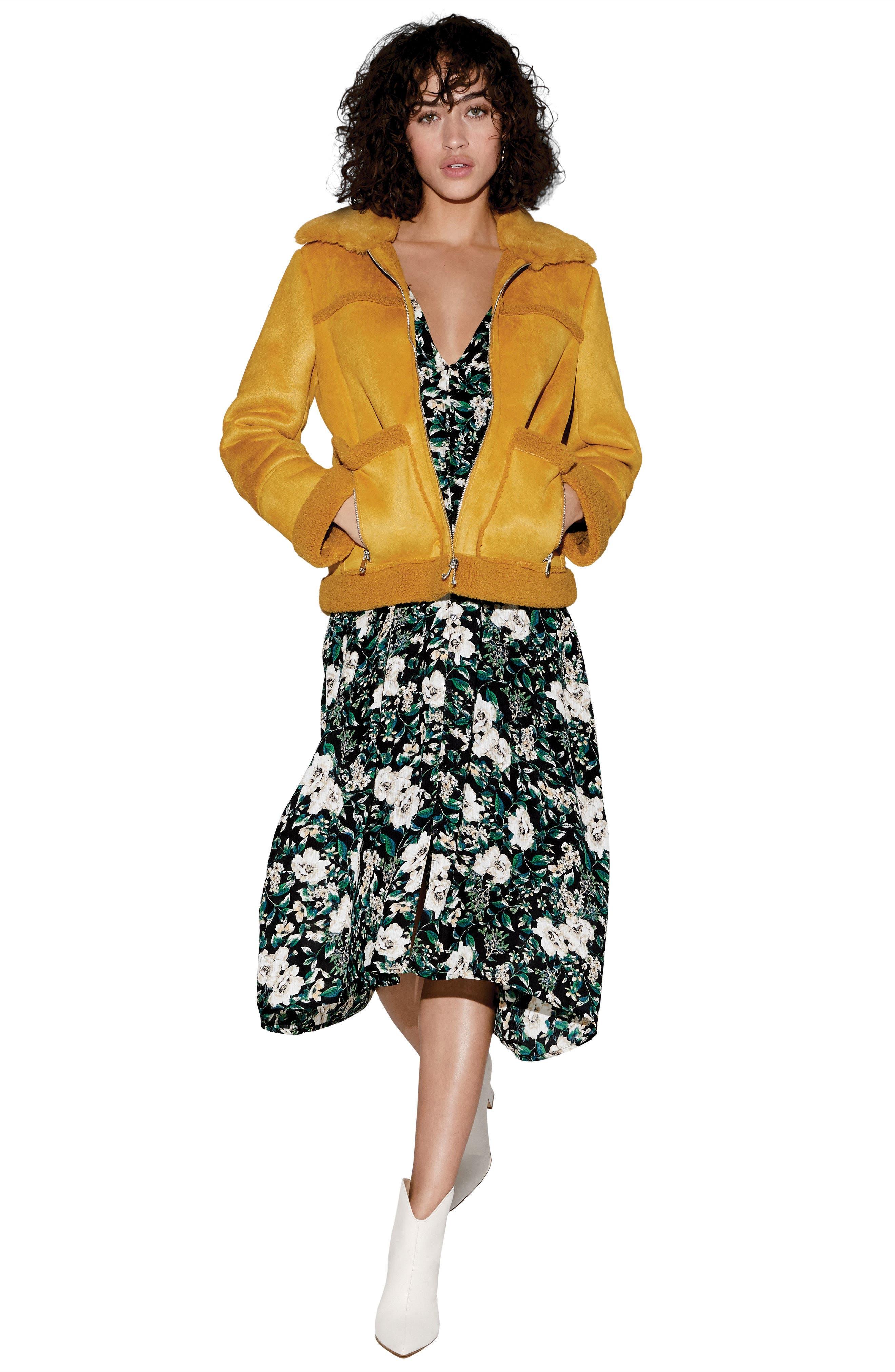 Button Front Midi Dress,                             Alternate thumbnail 8, color,