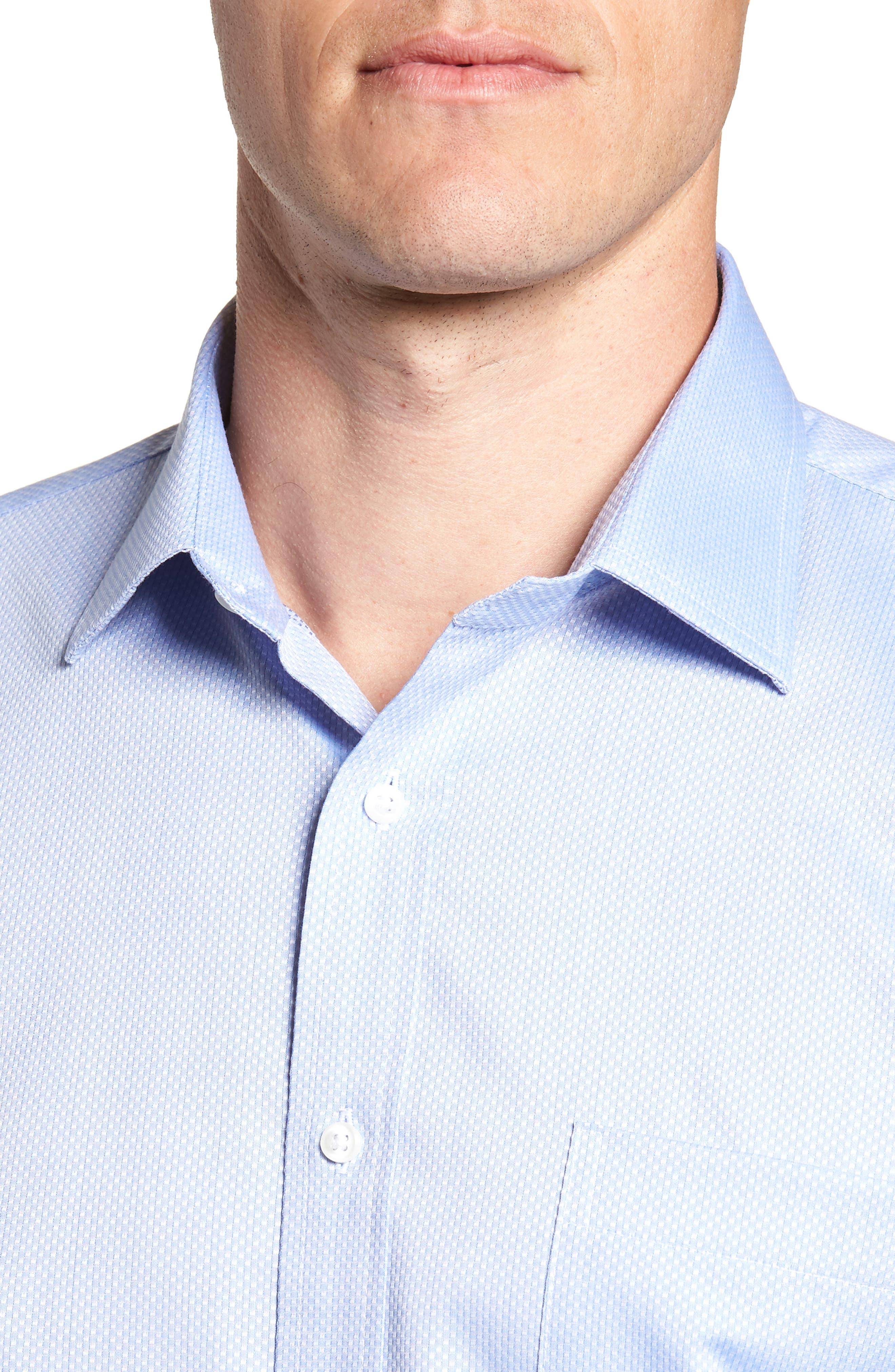 Trim Fit Solid Dress Shirt,                             Alternate thumbnail 2, color,                             Blue Azurite