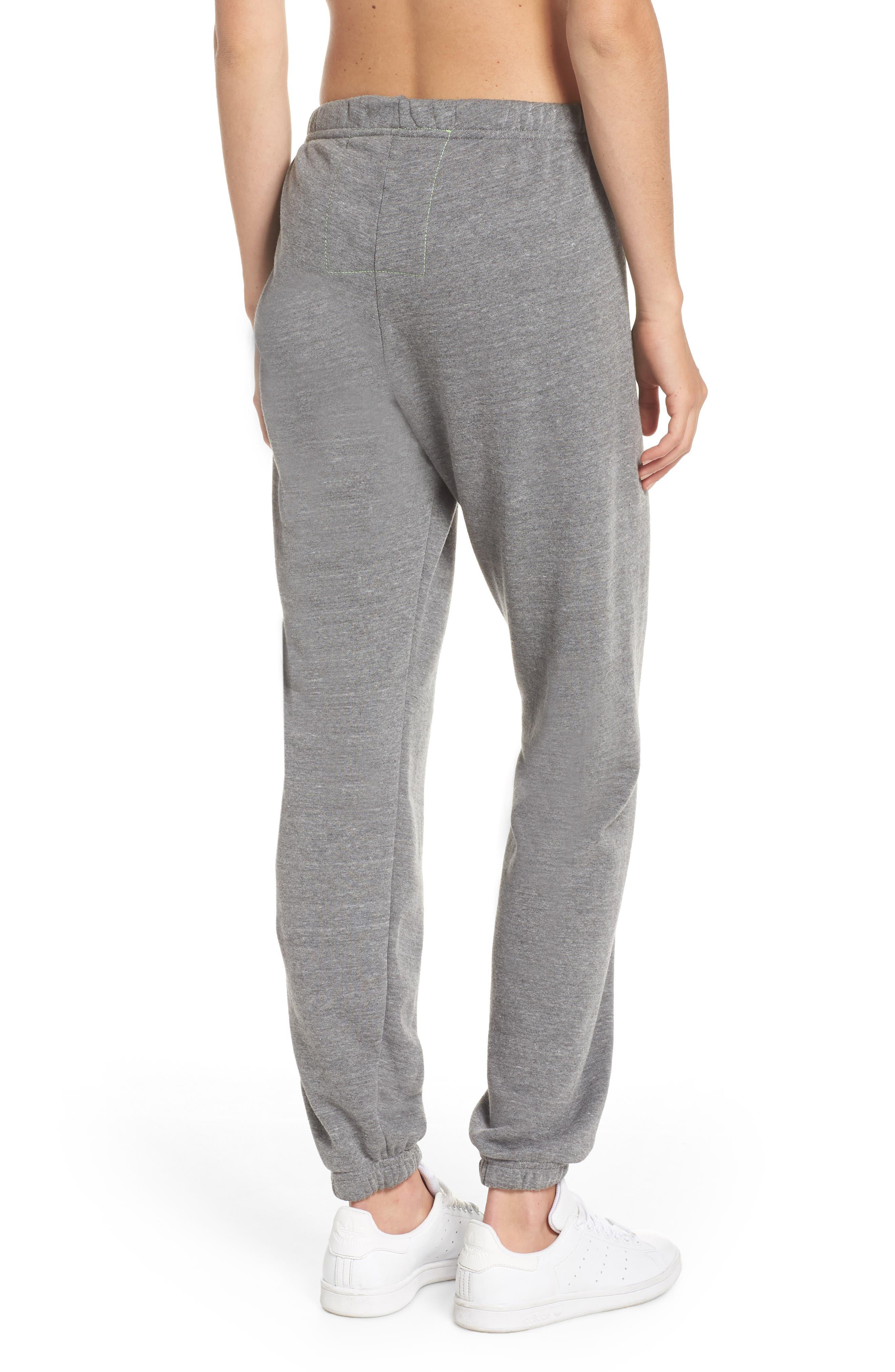 Stripe Sweatpants,                             Alternate thumbnail 2, color,                             Heather Grey/ Blue Stripes