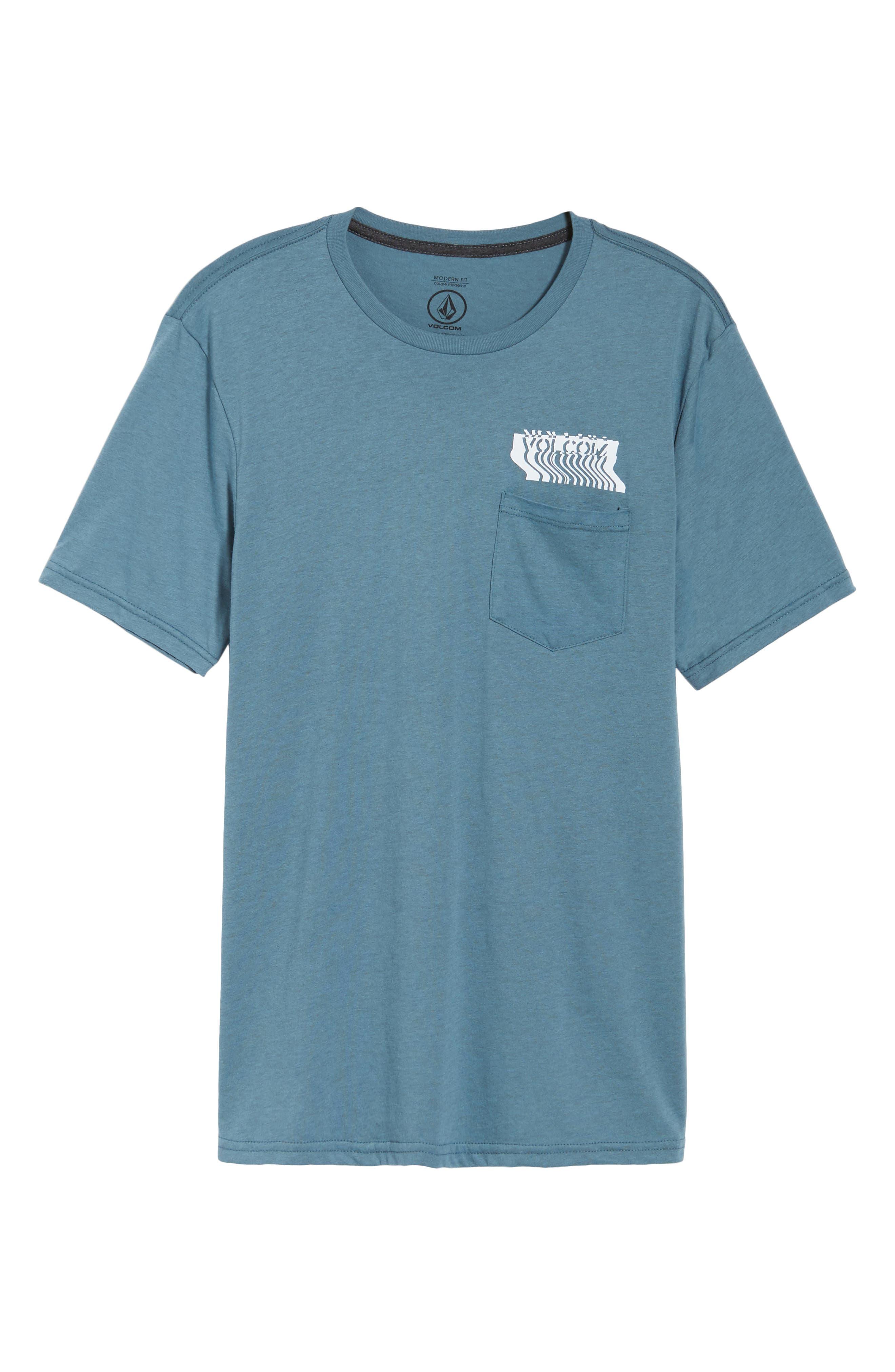 Bard Pocket Cotton Blend T-Shirt,                             Alternate thumbnail 6, color,                             Indigo