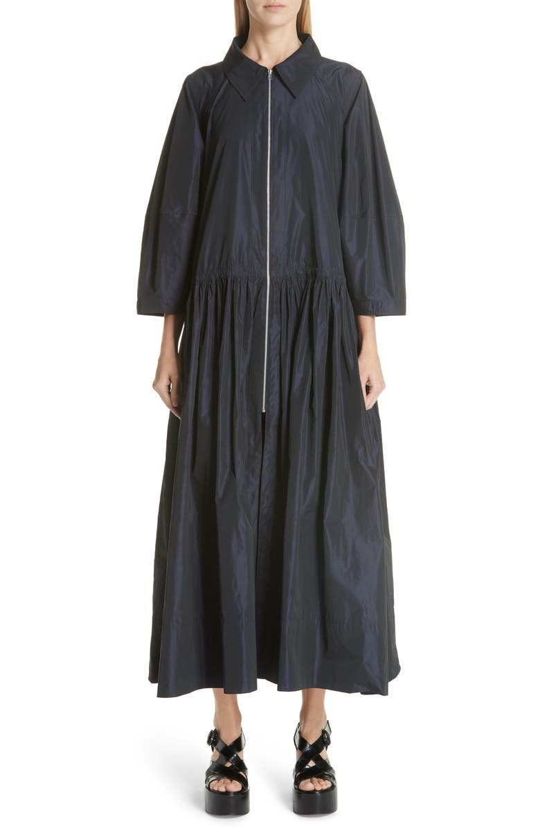 Max Gathered Waist Drawstring Coat