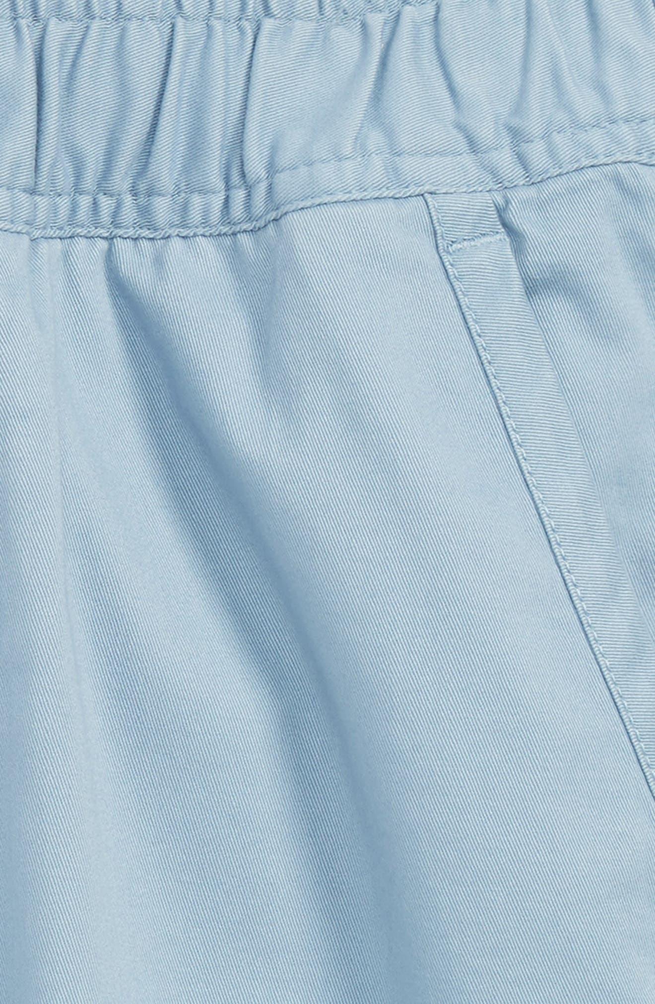Knit Shorts,                             Alternate thumbnail 2, color,                             Blue Chambray