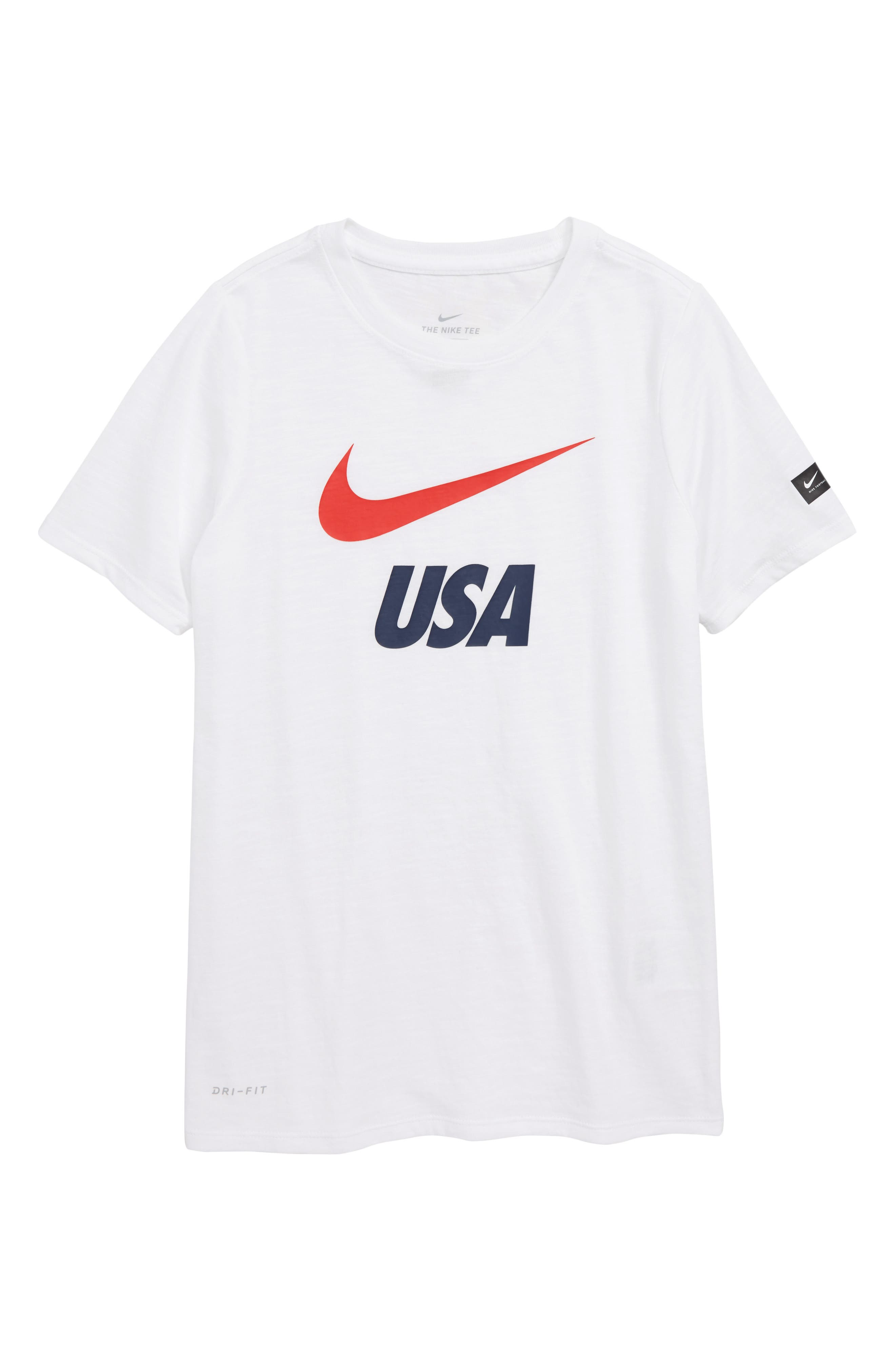 Dry Soccer Graphic T-Shirt,                             Main thumbnail 1, color,                             White