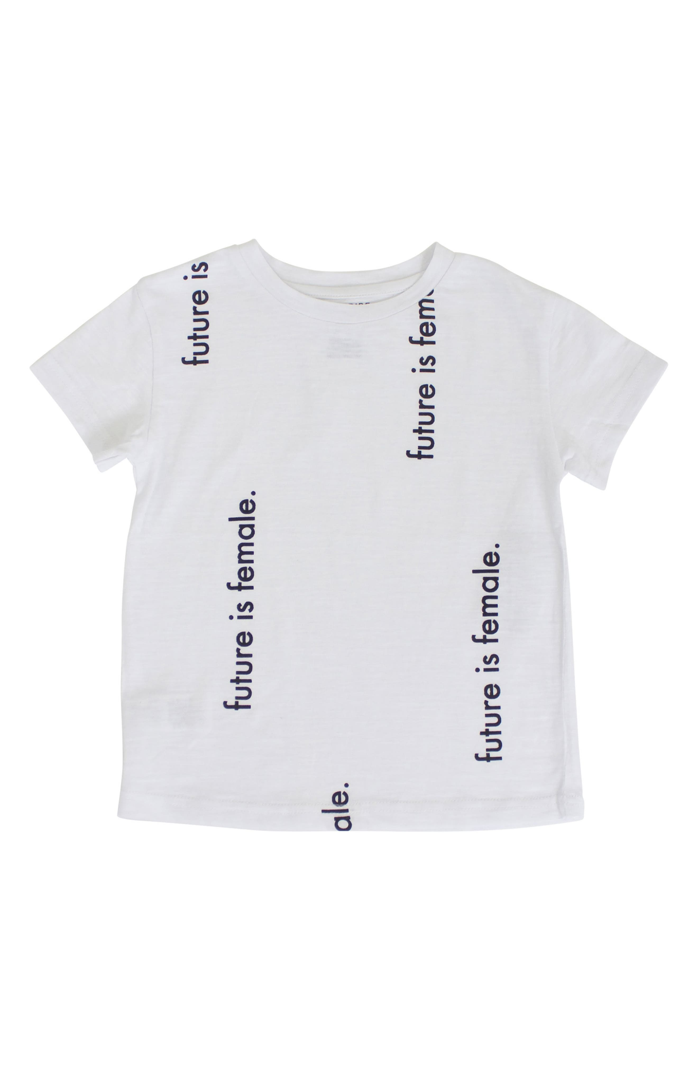 Future is Female Graphic Tee,                             Main thumbnail 1, color,                             White