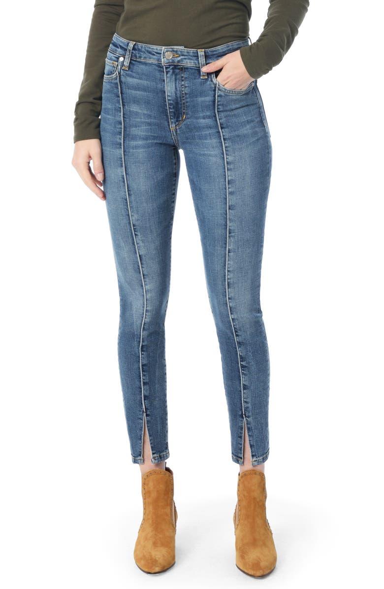 Charlie Pintuck High Waist Ankle Skinny Jeans