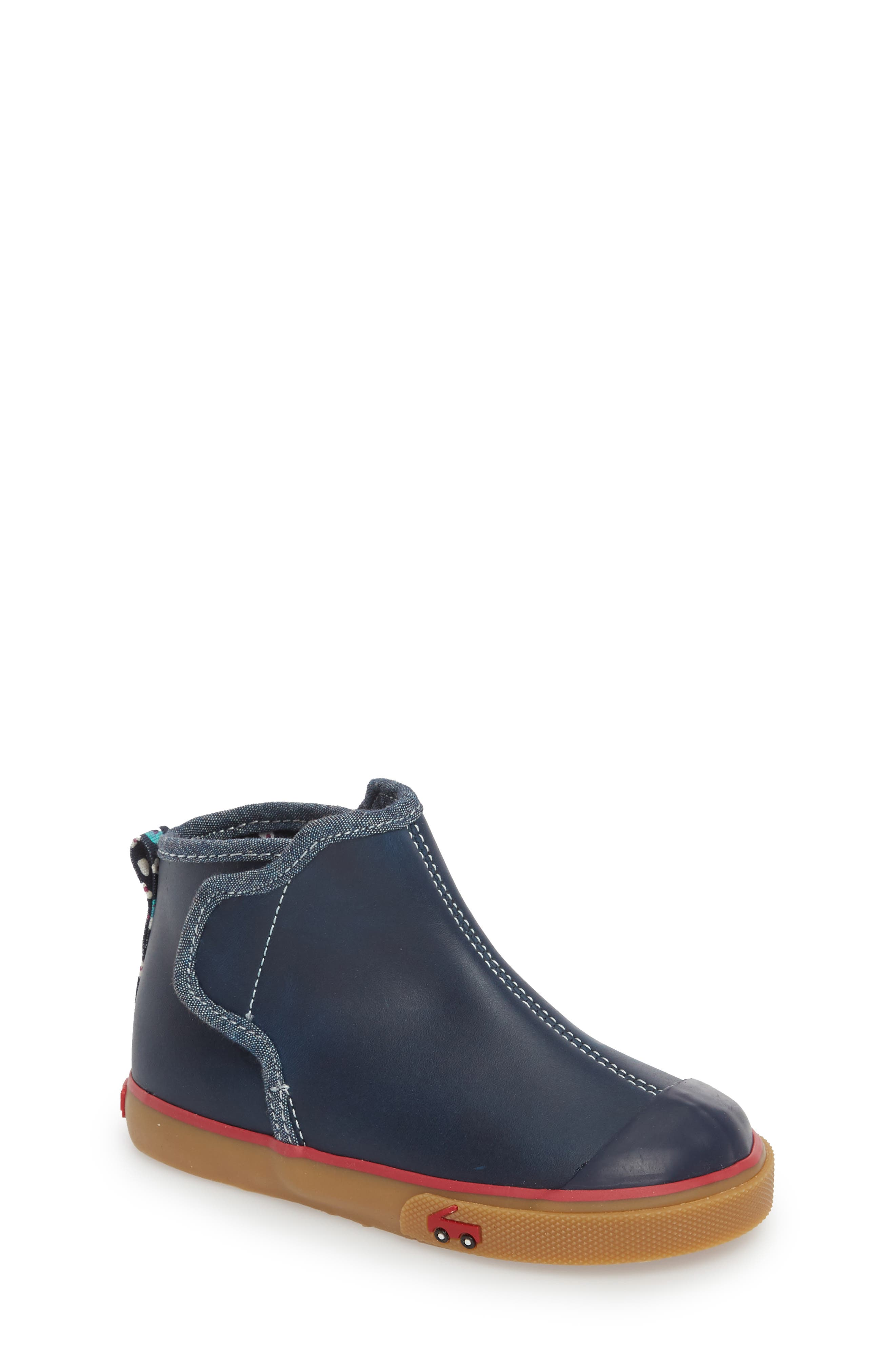 Mia Boot,                             Main thumbnail 1, color,                             Navy Leather