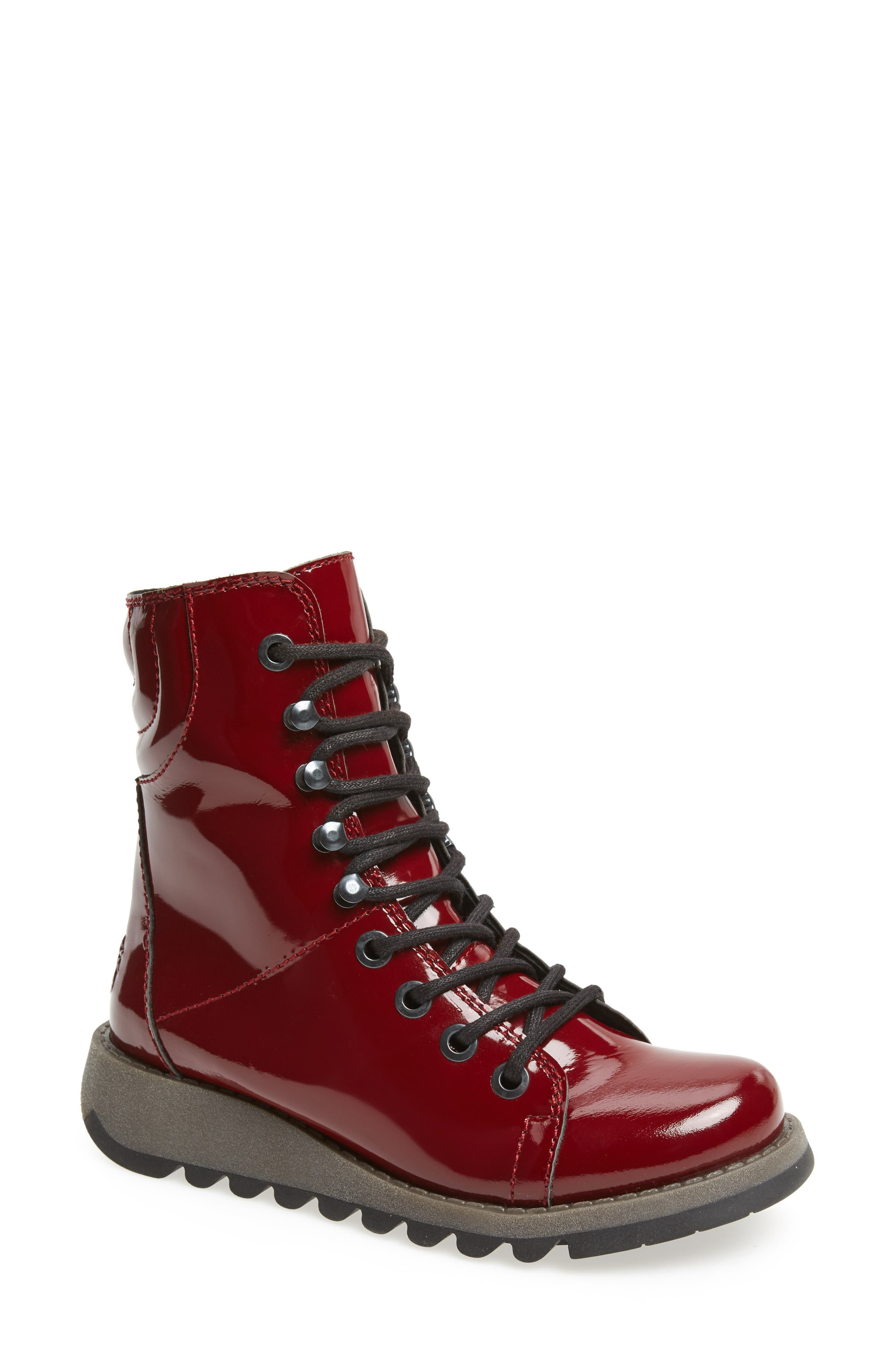 Same Lace-Up Boot,                         Main,                         color, Burgundy