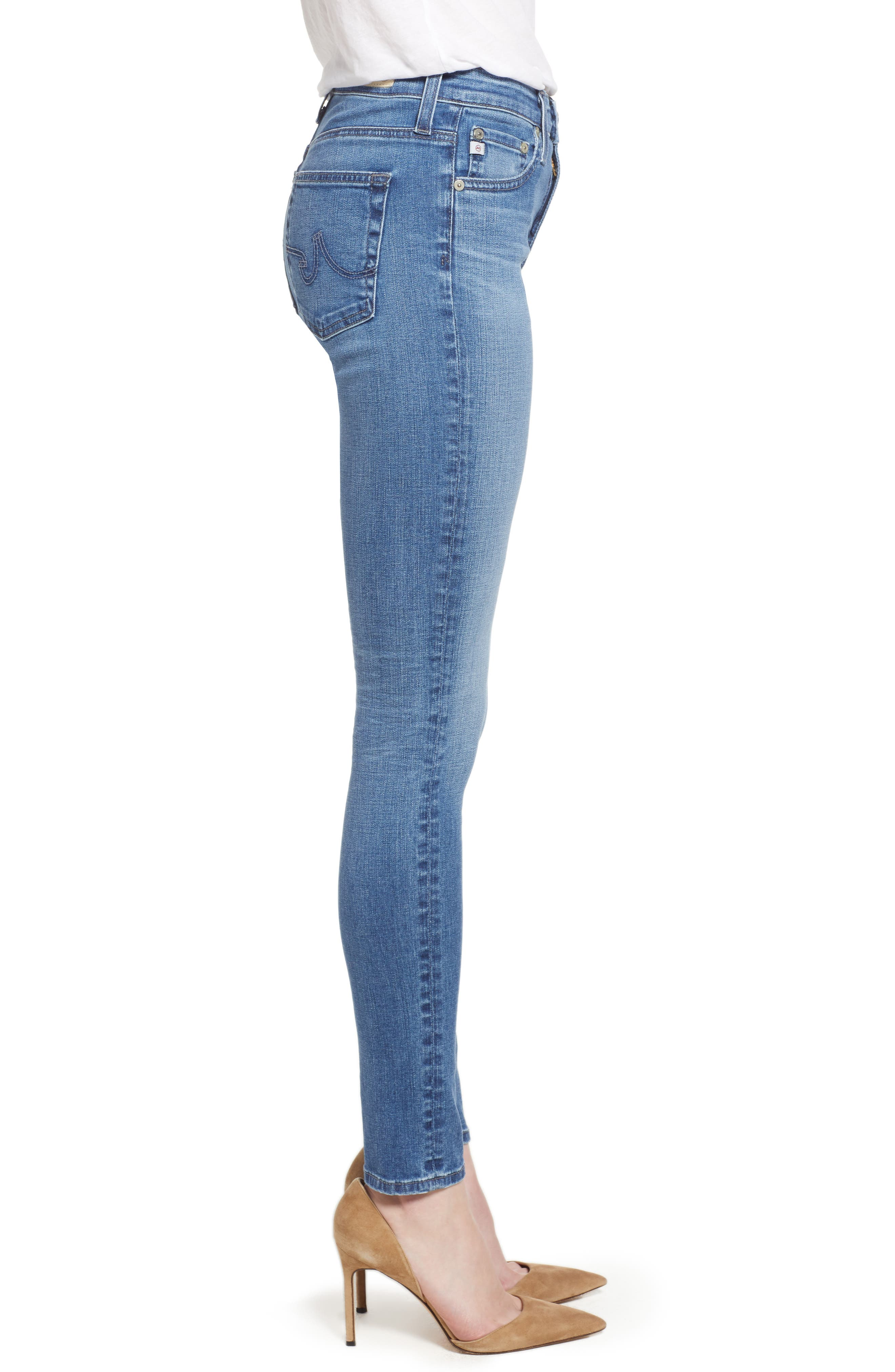 'The Farrah' High Rise Skinny Jeans,                             Alternate thumbnail 4, color,                             15 Years Chronic