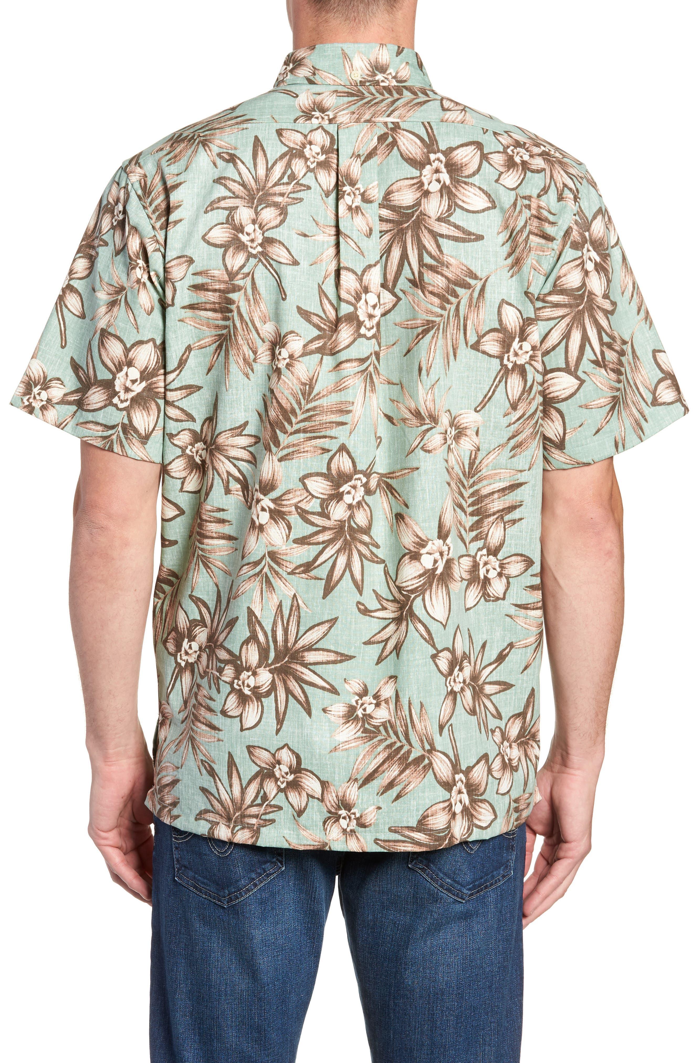 Onishi Garden Regular Fit Sport Shirt,                             Alternate thumbnail 3, color,                             Seafoam